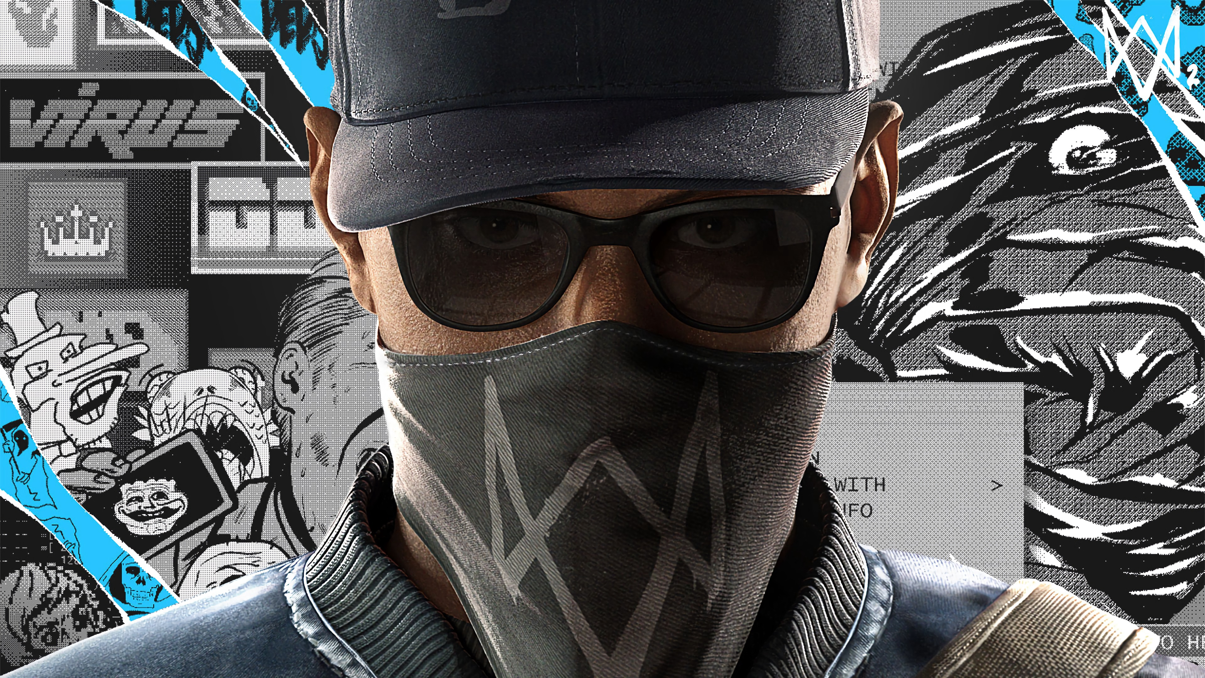 watch dogs 2 marcus holloway face 4k 1538944999 - watch dogs 2, marcus holloway, face 4k - watch dogs 2, marcus holloway, Face
