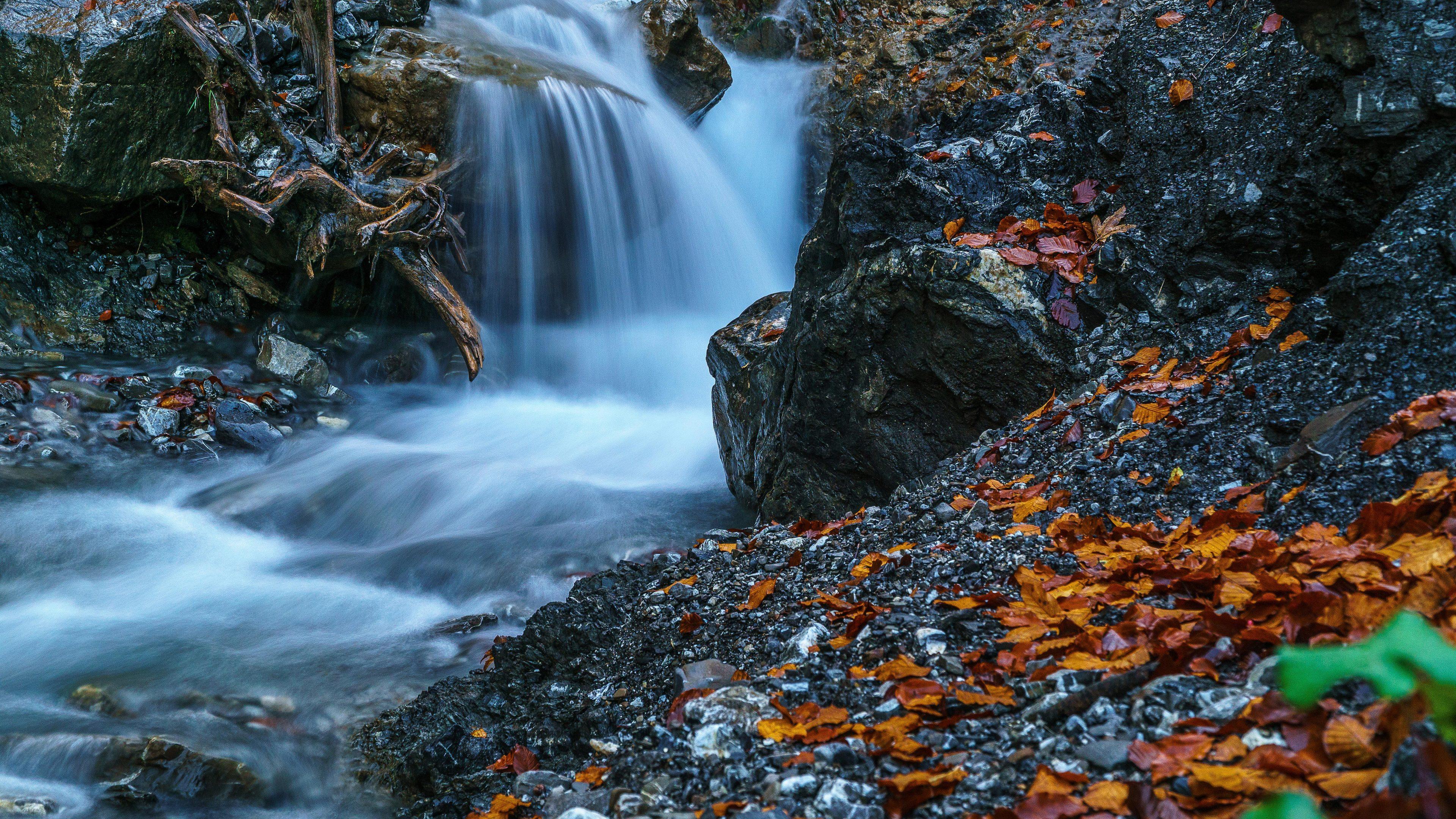 waterfall forest ultra hd 4k 1540134576