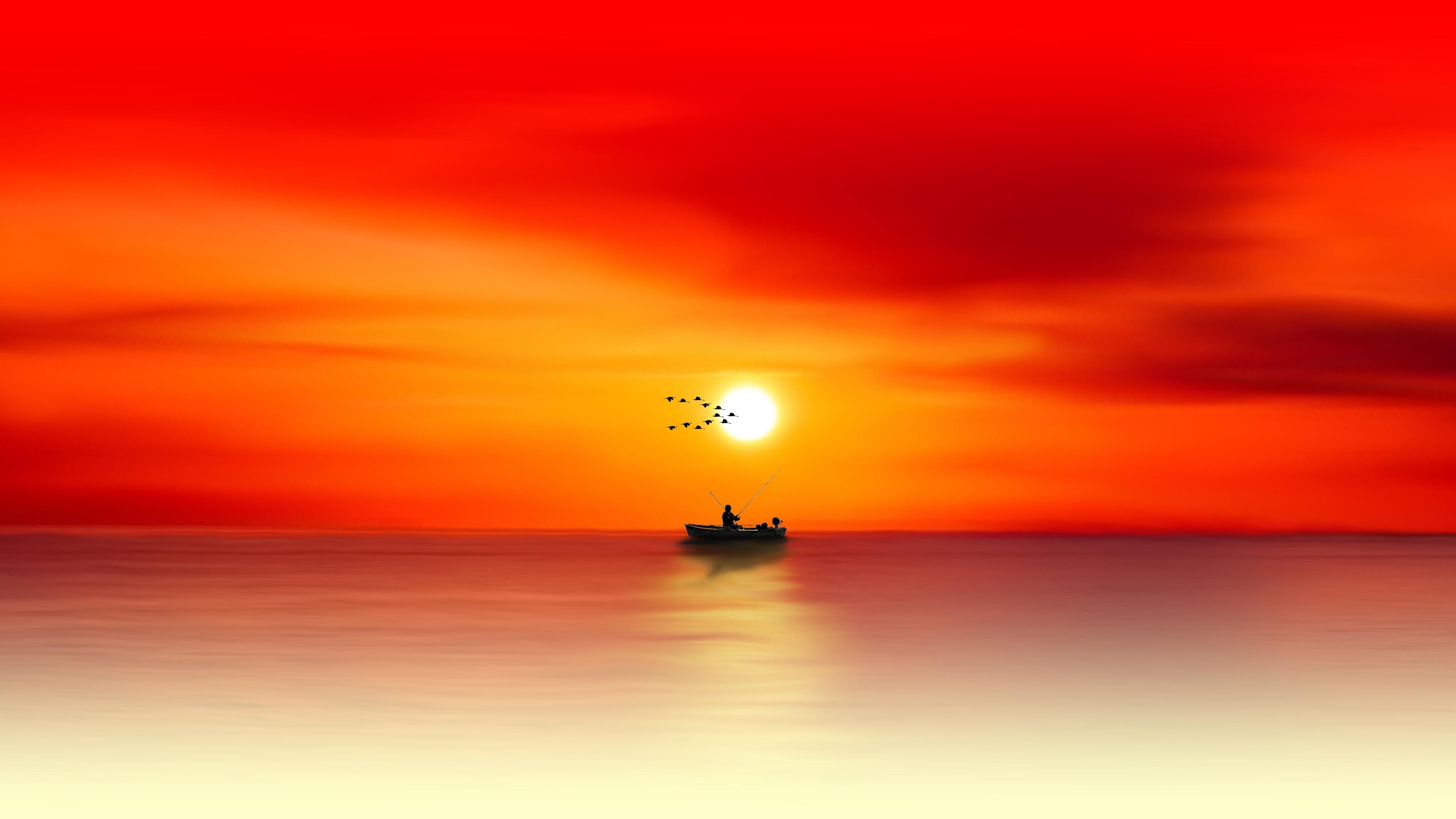 waters sea sun dusk evening 4k 1540139297 - Waters Sea Sun Dusk Evening 4k - sunset wallpapers, nature wallpapers, hd-wallpapers, evening wallpapers, dusk wallpapers, dawn wallpapers, 5k wallpapers, 4k-wallpapers