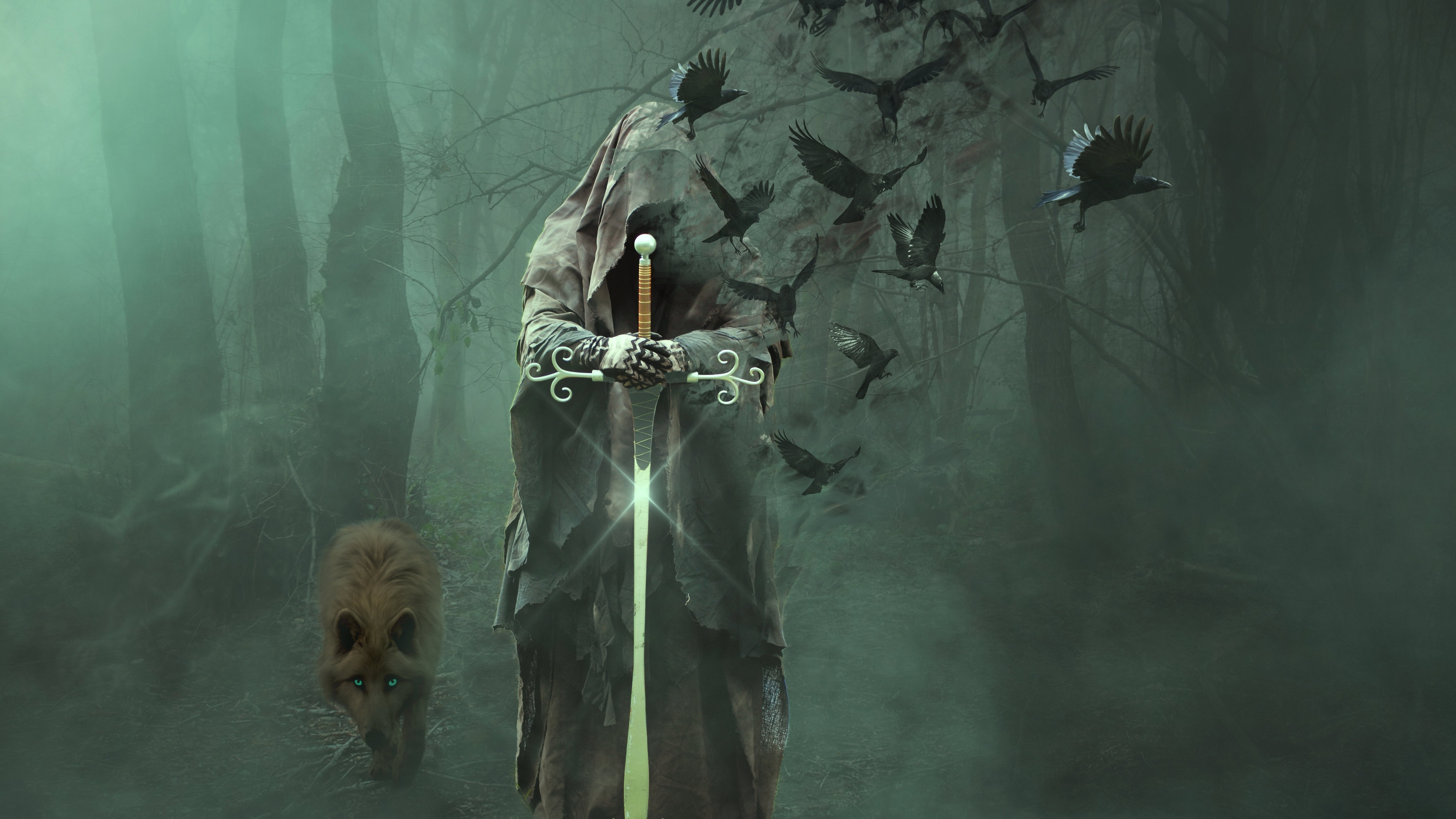wizard of death in a dark forest 1540751168 - Wizard Of Death In A Dark Forest - hd-wallpapers, digital art wallpapers, artwork wallpapers, artist wallpapers, 4k-wallpapers