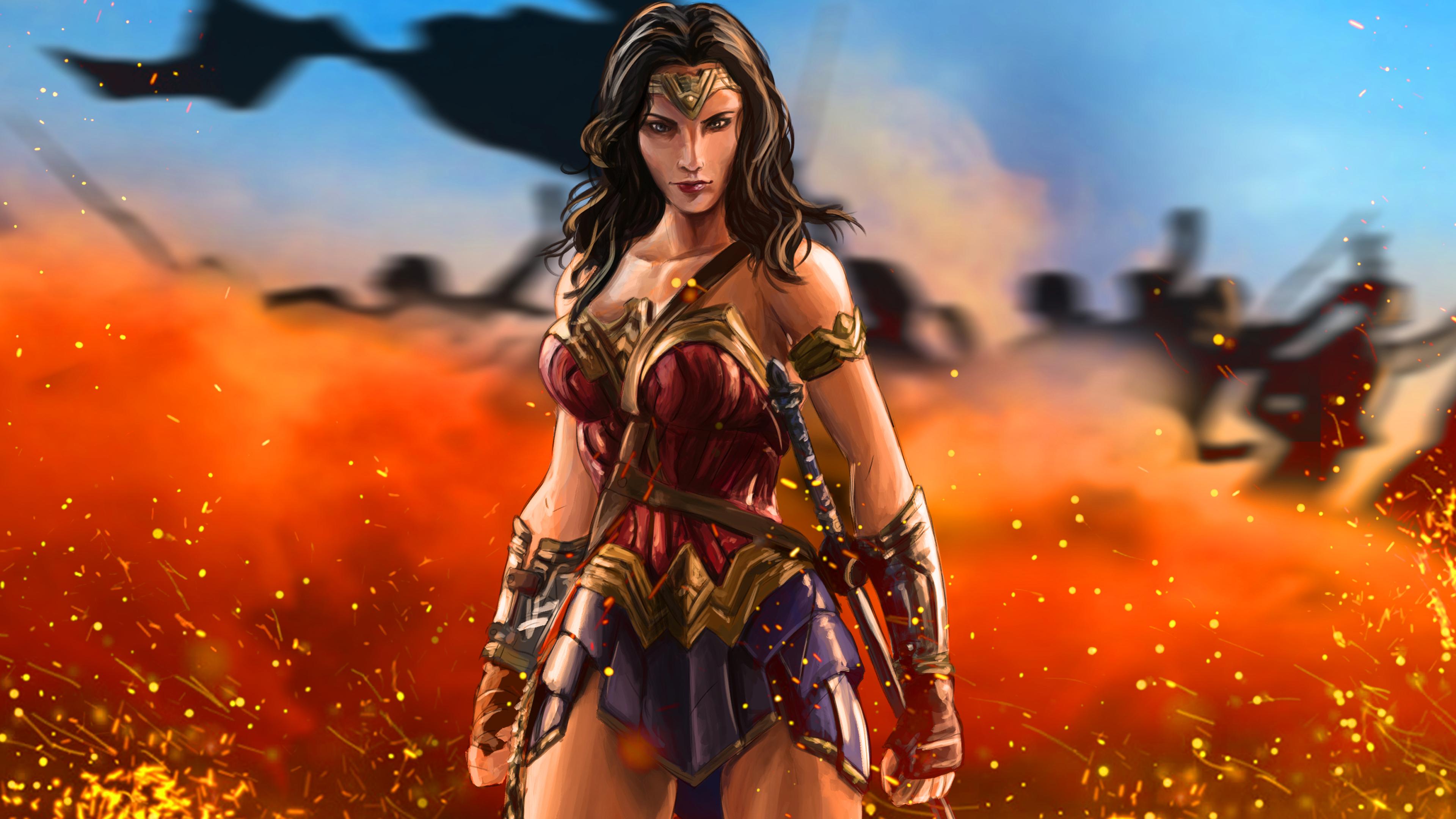 wonder woman warrior artwork 5k 1539452759 - Wonder Woman Warrior Artwork 5k - wonder woman wallpapers, warrior wallpapers, superheroes wallpapers, hd-wallpapers, digital art wallpapers, artwork wallpapers, 5k wallpapers, 4k-wallpapers