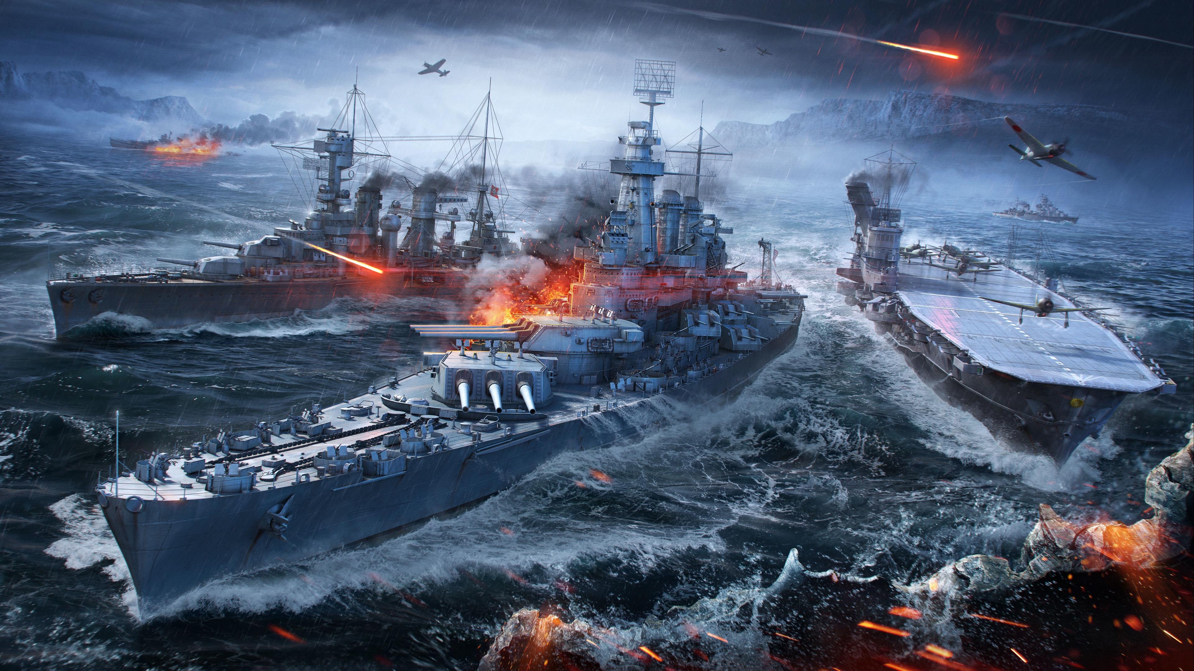 world of warships wargaming net ships sea 4k 1538944957 - world of warships, wargaming net, ships, sea 4k - world of warships, wargaming net, ships