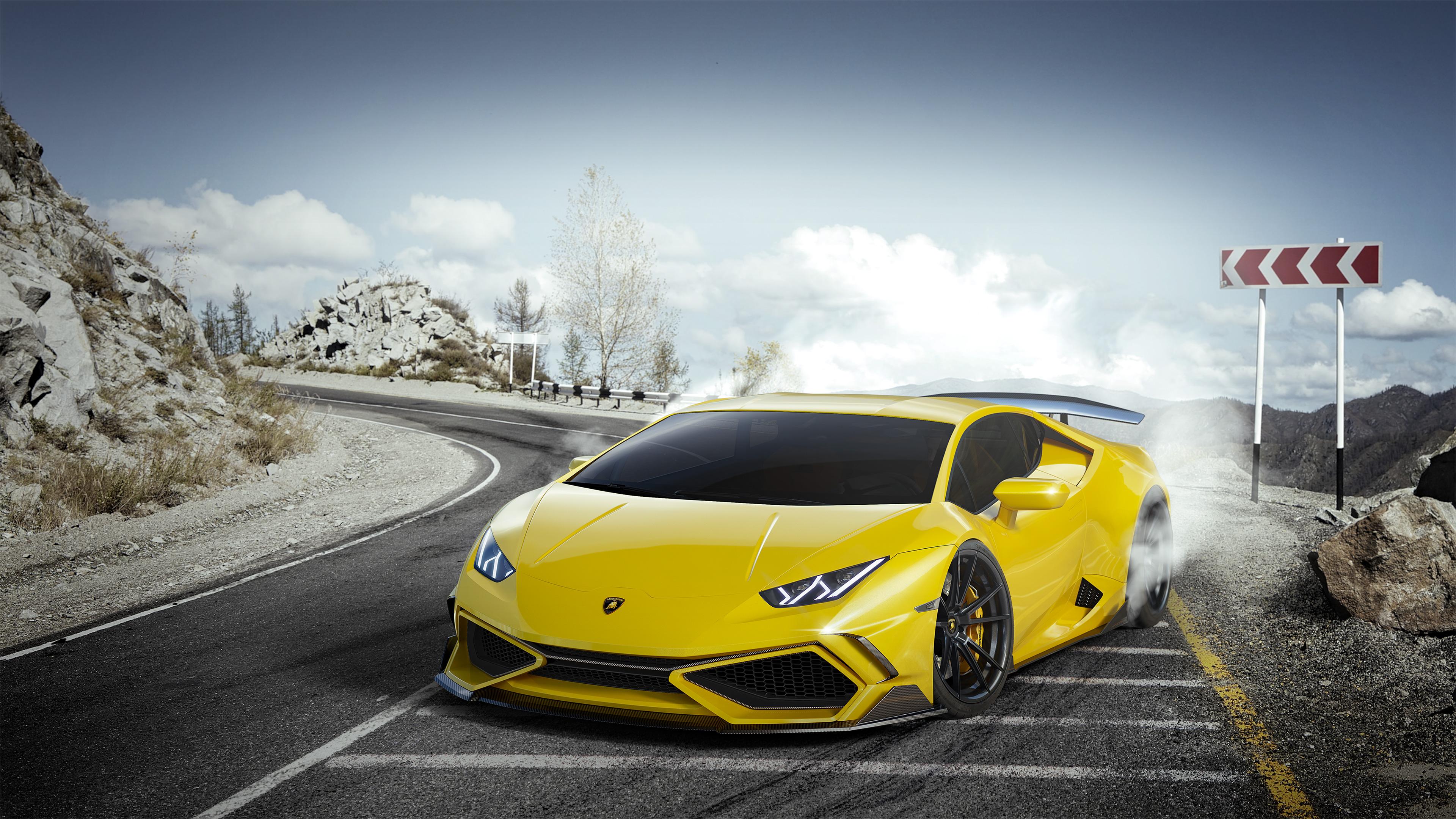 Yellow Lamborghini Huracan 4k lamborghini wallpapers ...