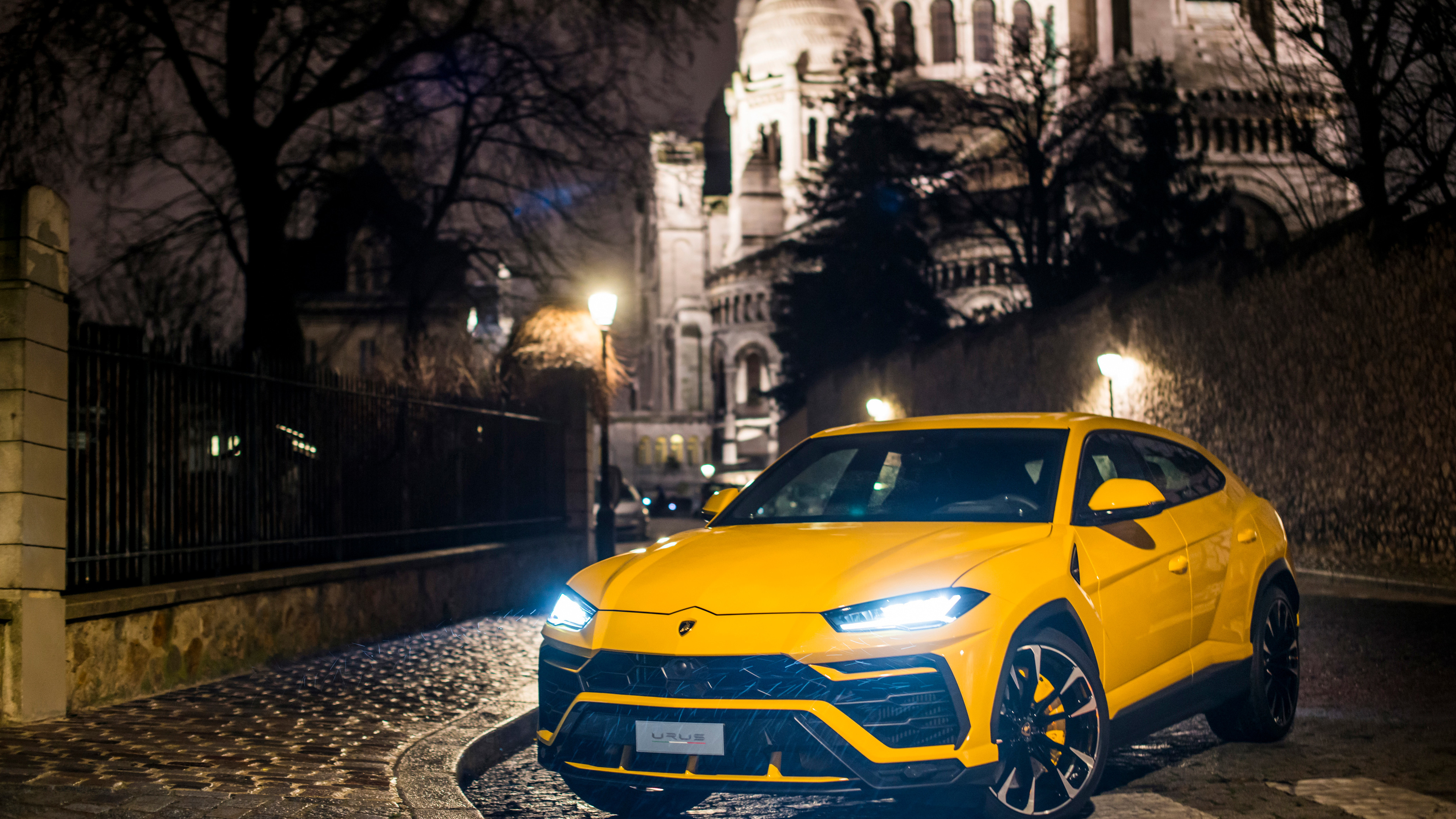 yellow lamborghini urus 2018 1539109326 - Yellow Lamborghini Urus 2018 - suv wallpapers, lamborghini wallpapers, lamborghini urus wallpapers, hd-wallpapers, cars wallpapers, 4k-wallpapers, 2018 cars wallpapers
