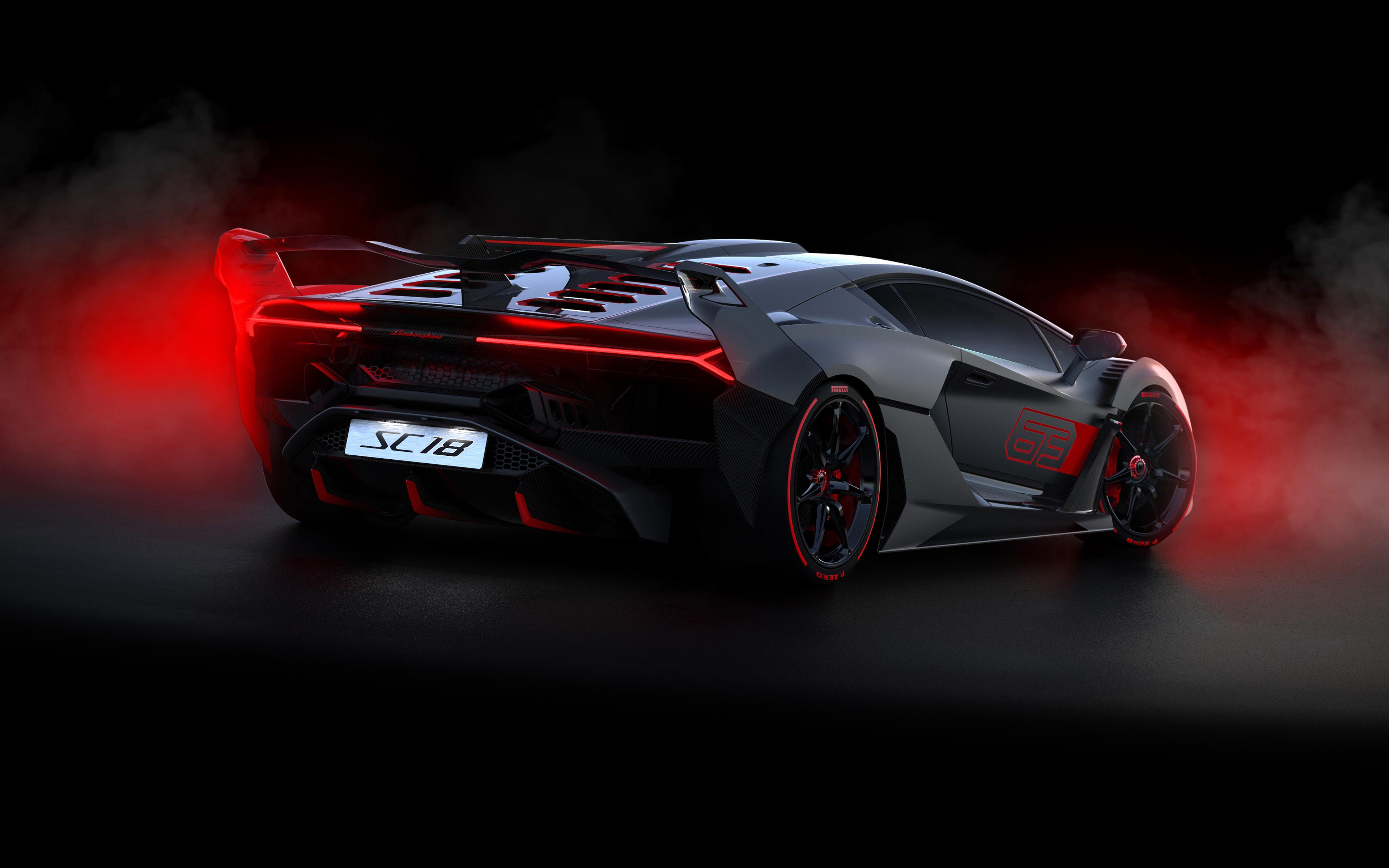 2018 lamborghini sc18 rearview 9w 3840x2400 - Lamborghini SC18 Alston rear 4K - Lamborghini SC18 Alston 4K rear view