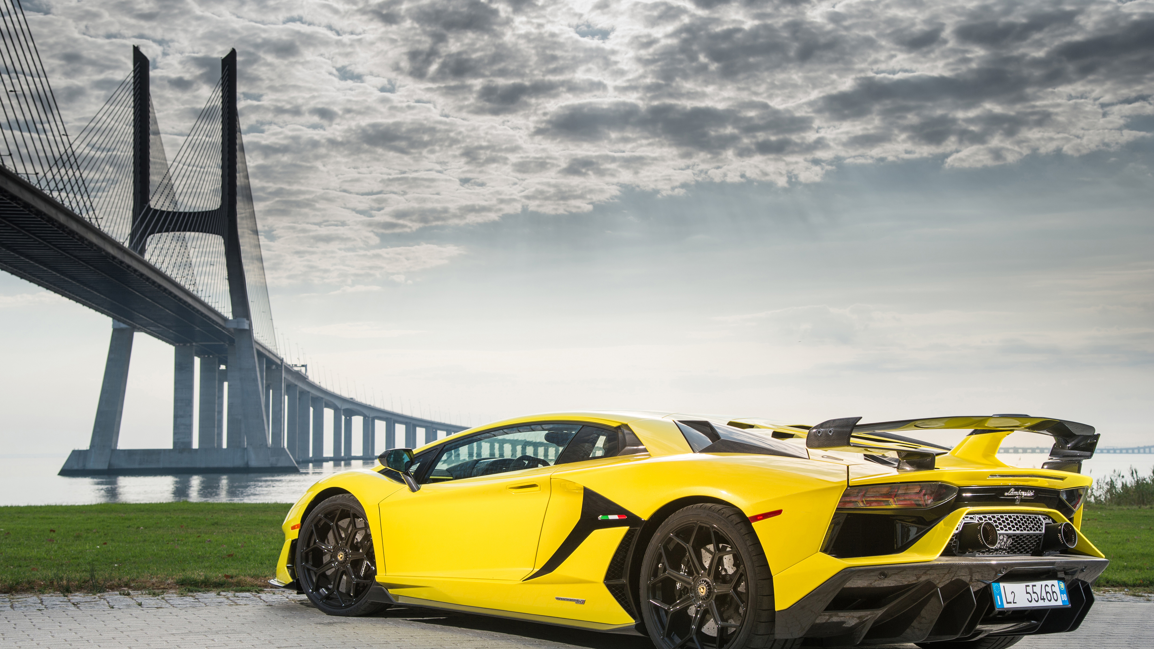 Wallpaper 4k 2019 Lamborghini Aventador SVJ Rear 2018 cars