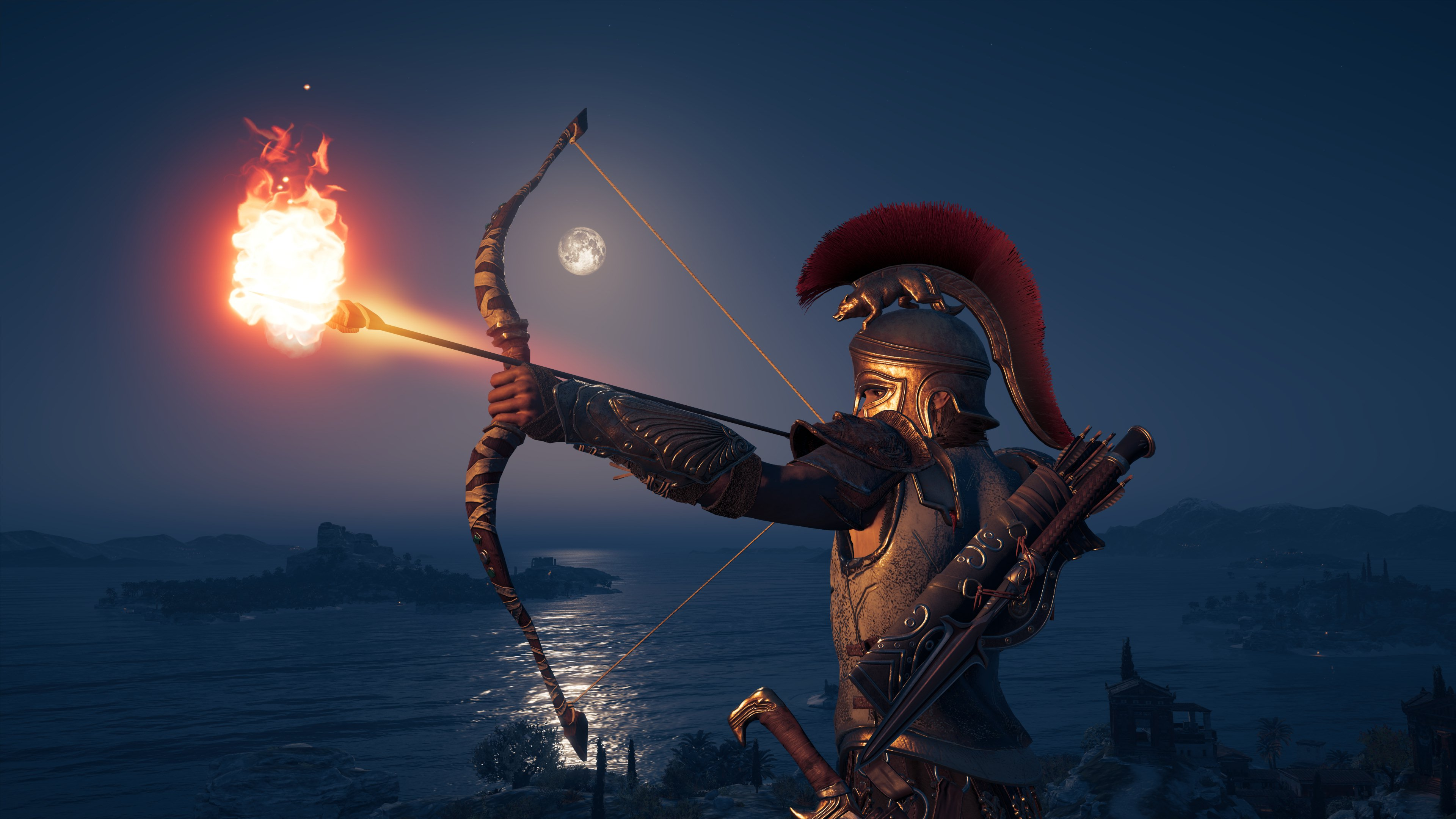 Wallpaper 4k 4k Assassins Creed Odyssey Bow And Arrow 2018 Games