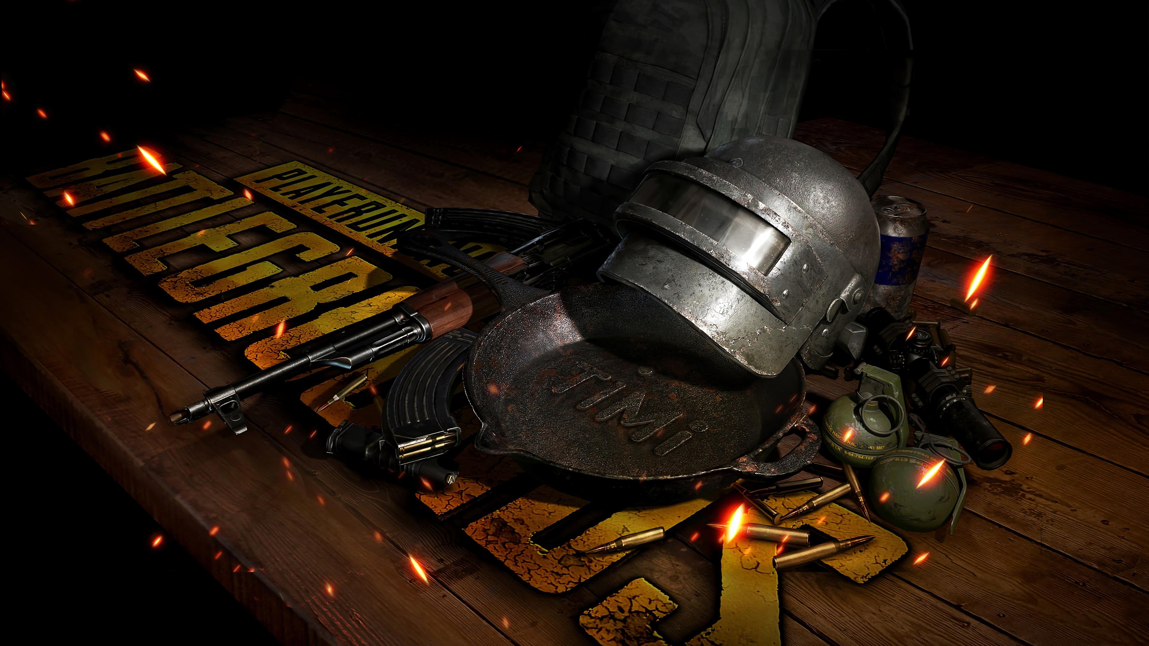 Wallpaper 4k Player Unknown S Battlegrounds Pubg 4k Helmet Pan
