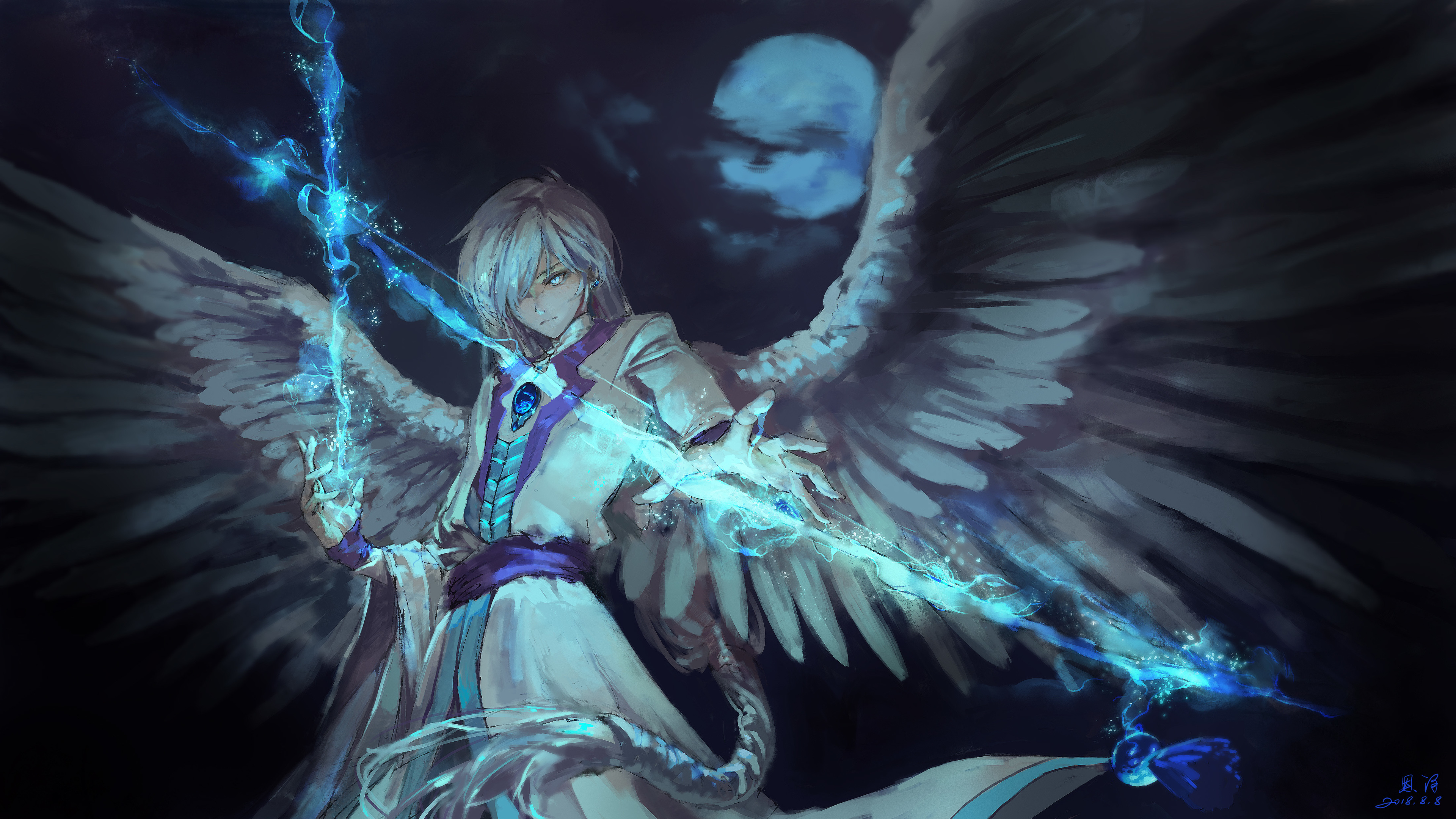Wallpaper 4k Anime Angel Boy With Magical Arrow 4k Wallpapers Anime Wallpapers Hd Wallpapers