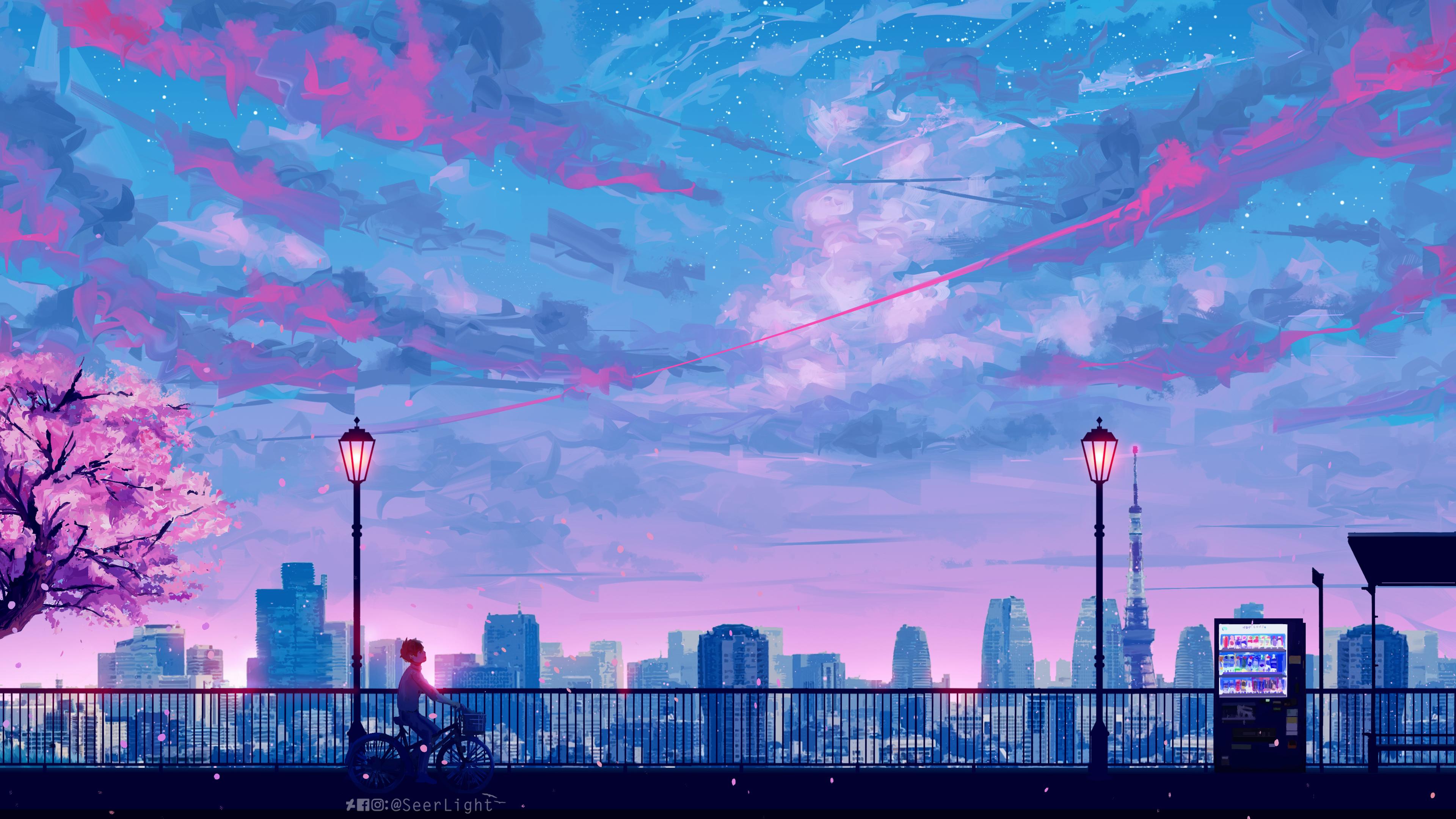 Wallpaper 4k Anime Cityscape Landscape Scenery 4k 4k Wallpapers