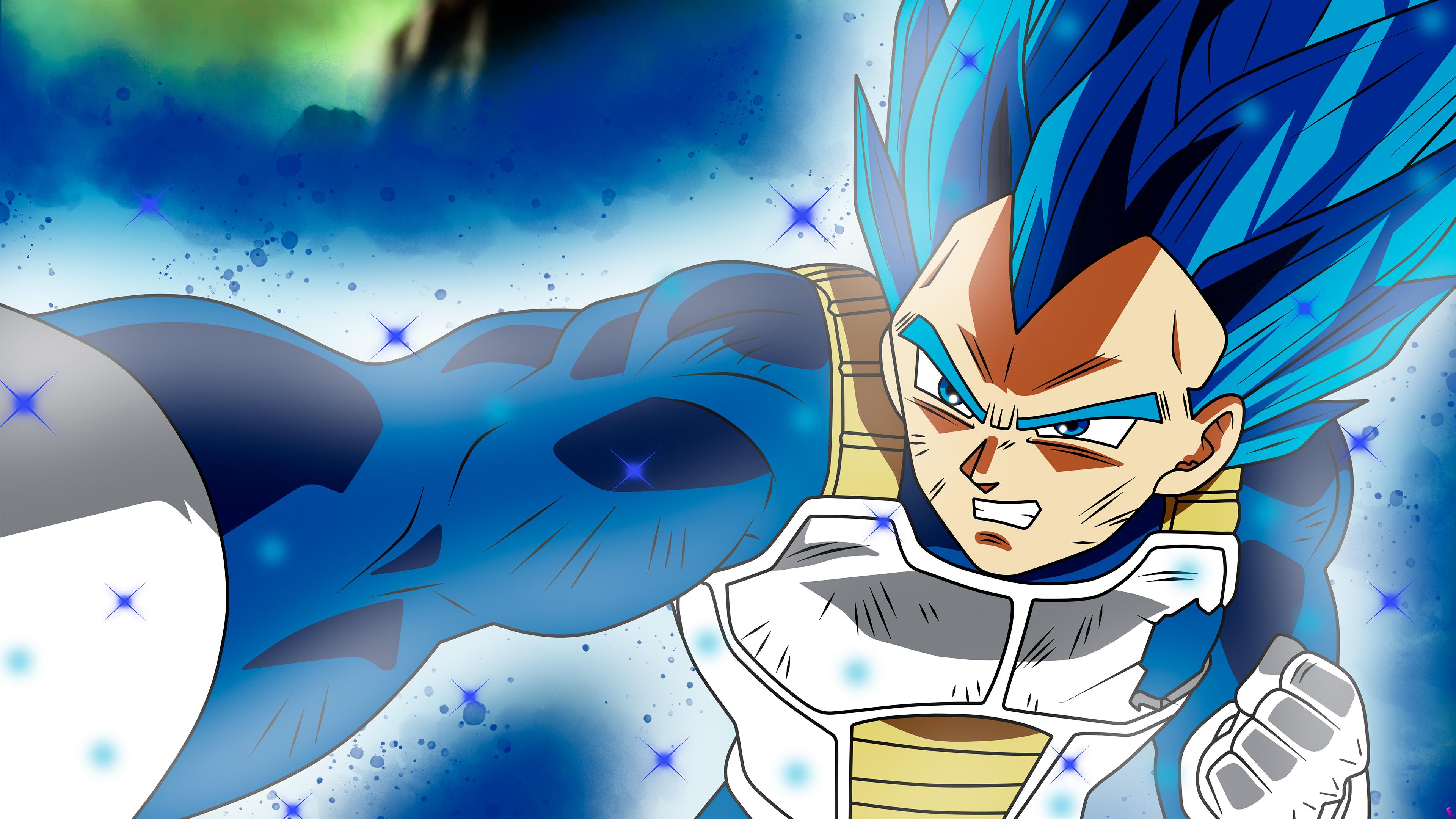 Wallpaper 4k Anime Dragon Ball Super Vegeta Ssj Blue Full