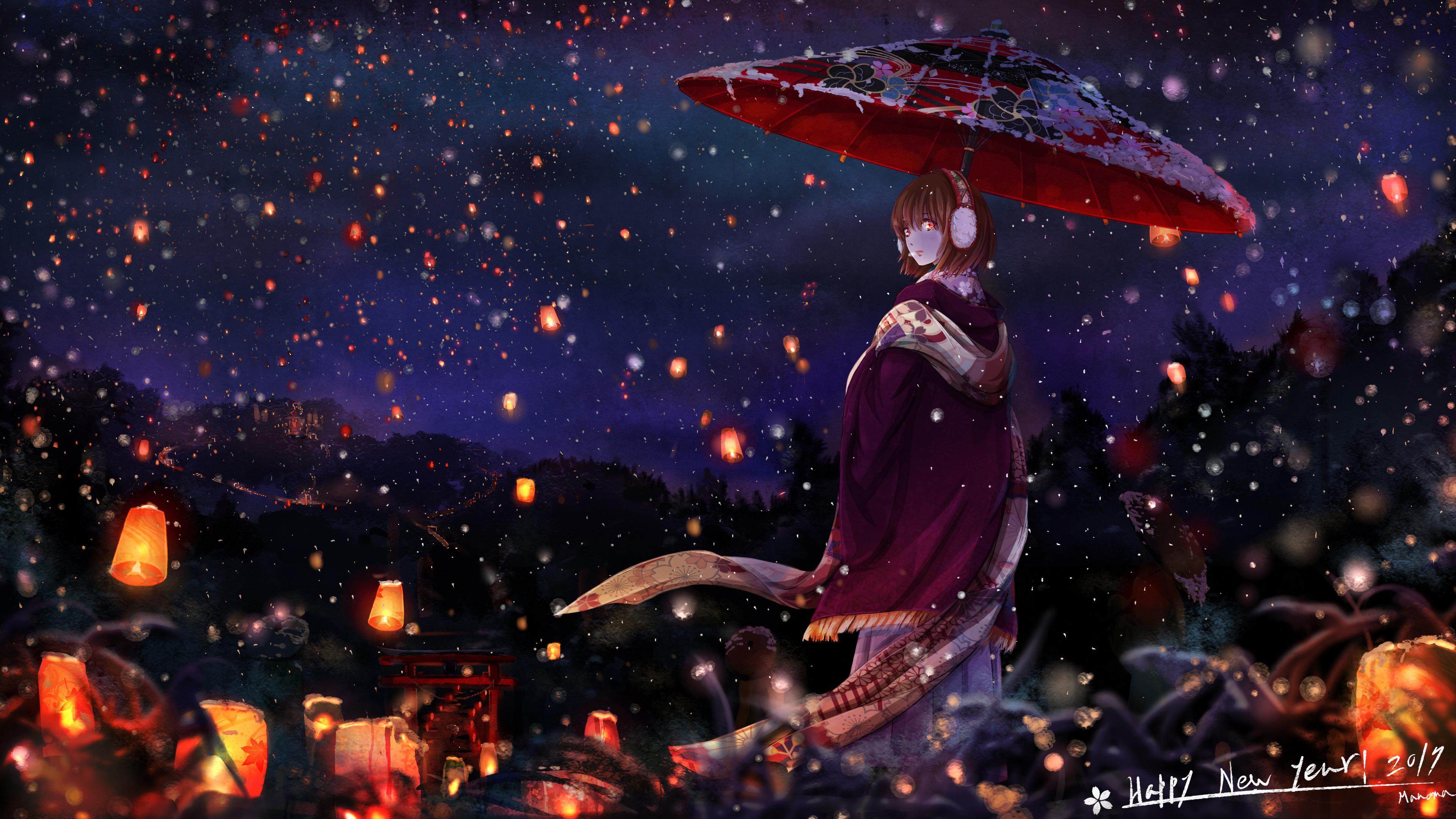 anime girl with umbrella 1541974155 - Anime Girl With Umbrella - umbrella wallpapers, hd-wallpapers, digital art wallpapers, artwork wallpapers, artist wallpapers, anime wallpapers, anime girl wallpapers, 4k-wallpapers