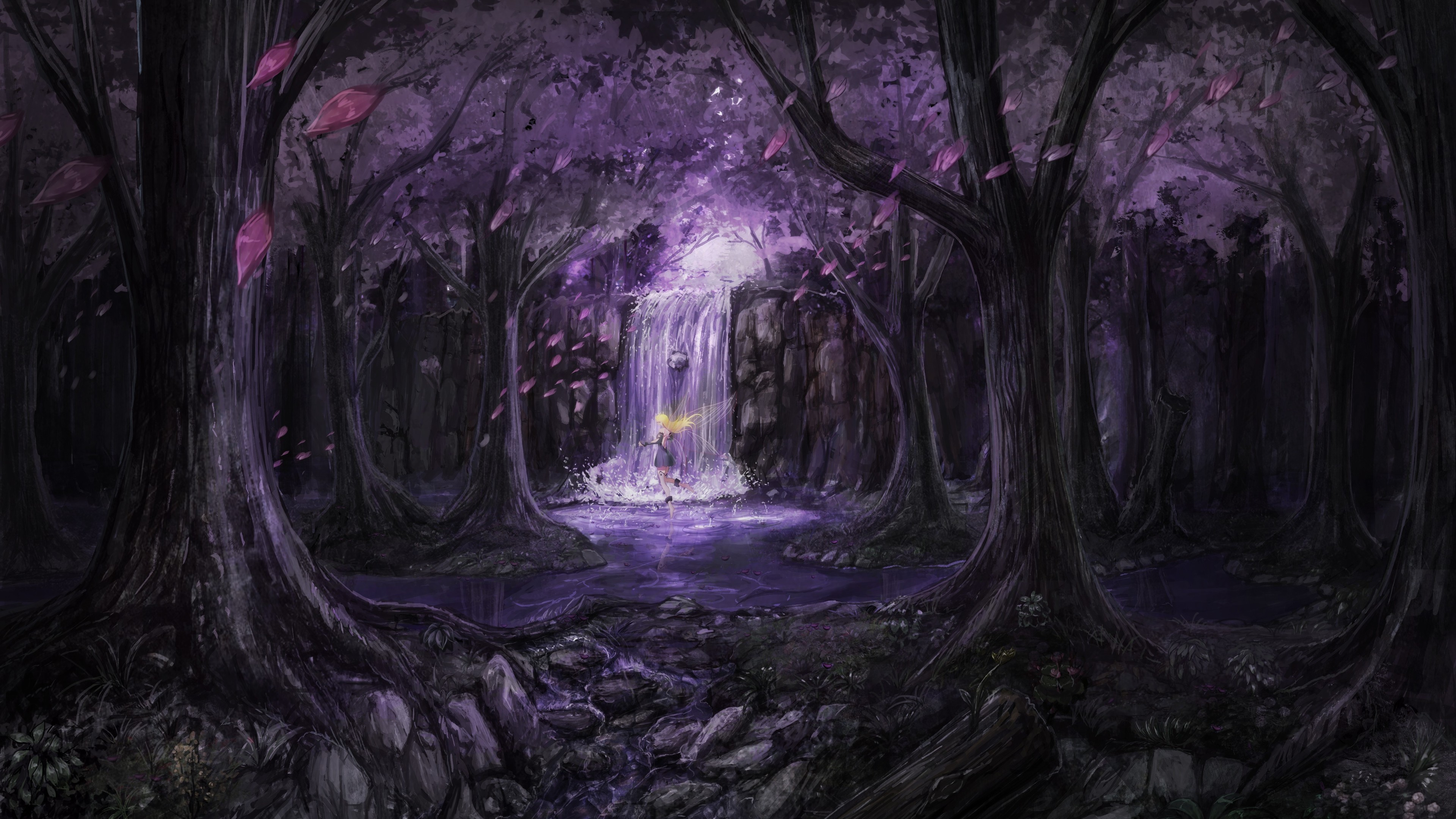 Anime Landscape Trees Dress Fairies 4k hd-wallpapers ...