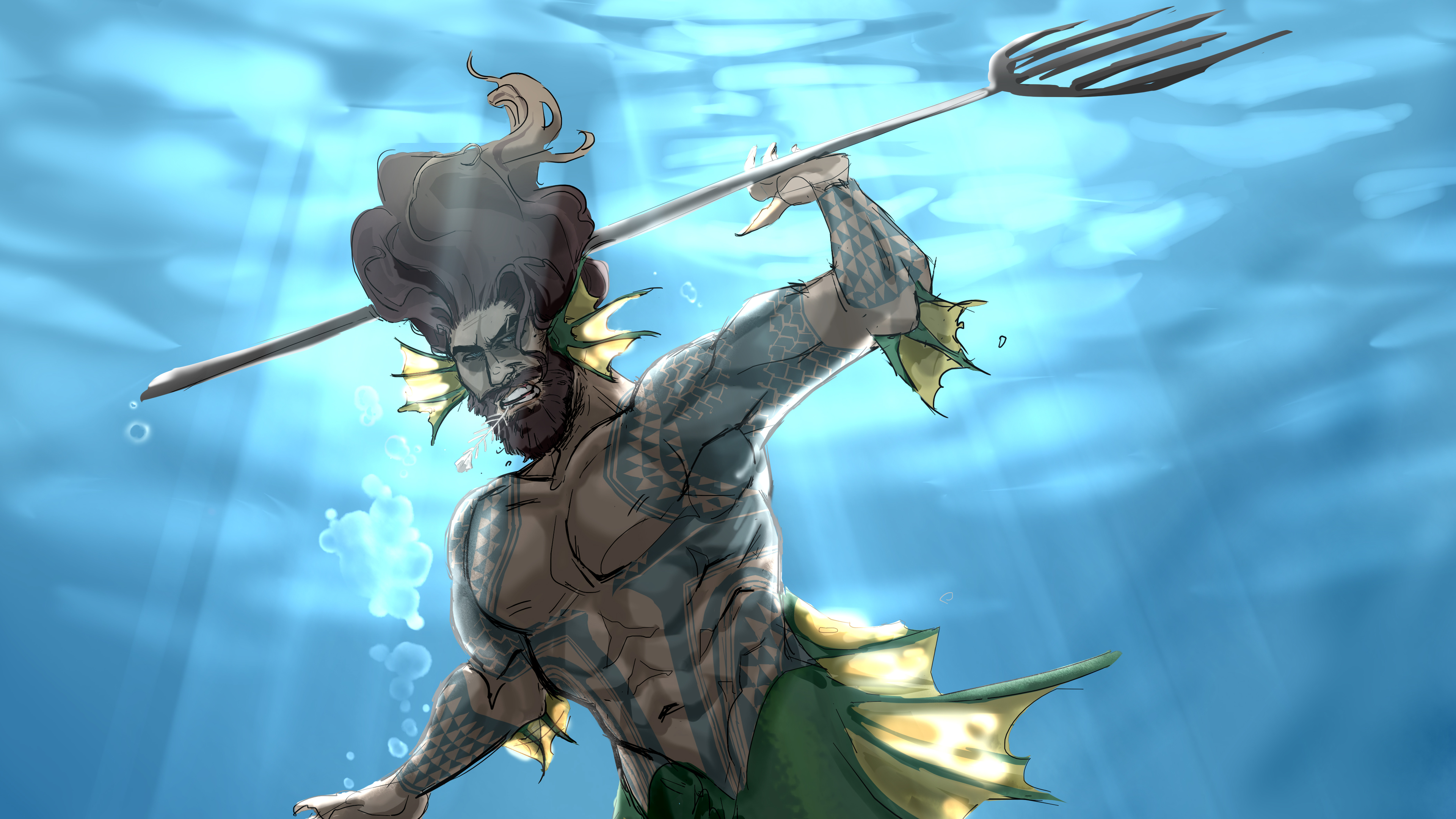 aquaman comic art 4k 1541294304 - Aquaman Comic Art 4k - superheroes wallpapers, hd-wallpapers, digital art wallpapers, deviantart wallpapers, artwork wallpapers, artist wallpapers, aquaman wallpapers, 4k-wallpapers