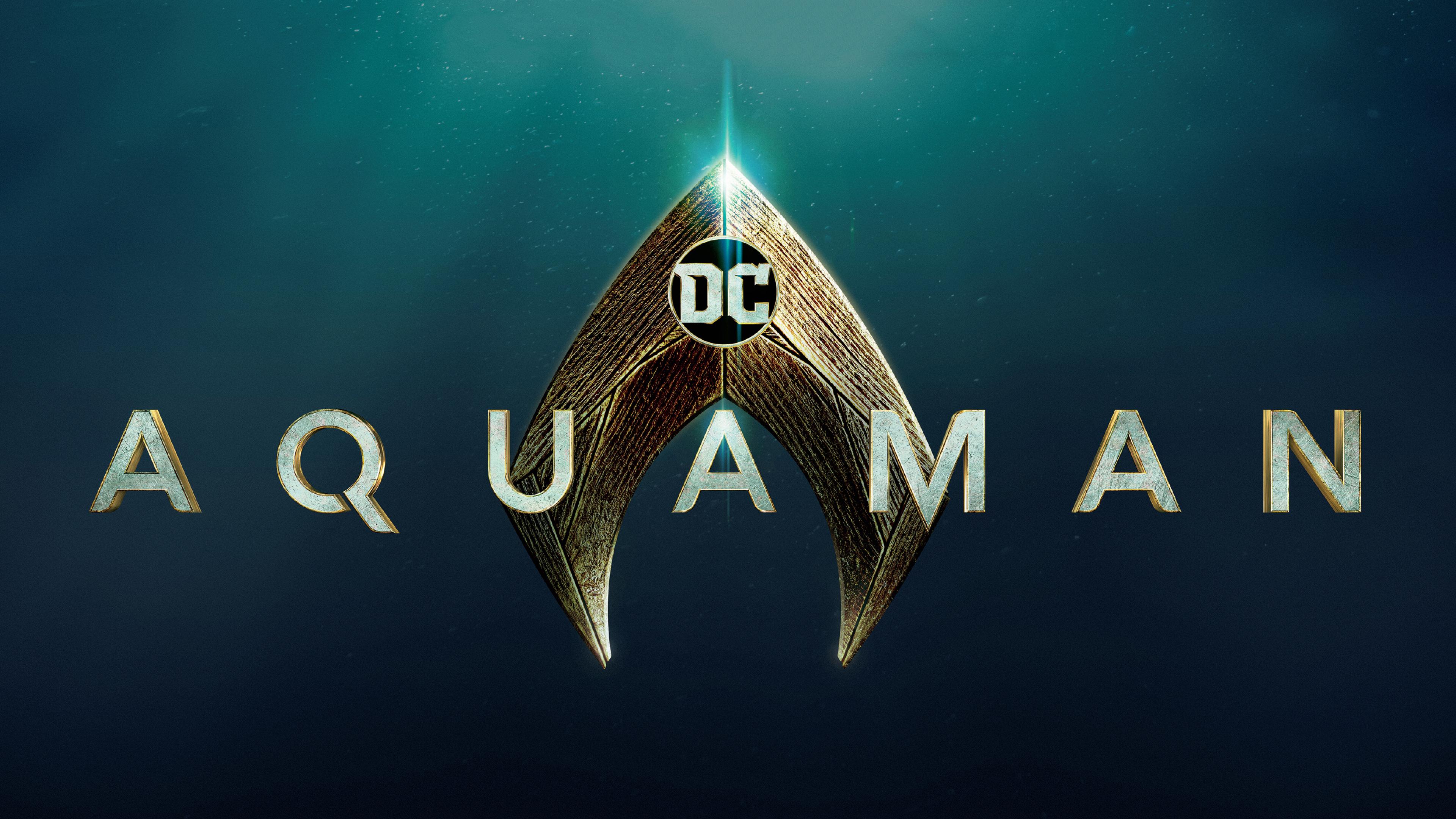 aquaman movie logo uu 3840x2160 - Aquaman Logo movie 4k - aquaman wallpapers 4k, Aquaman Logo movie 4k, Aquaman 4k logo