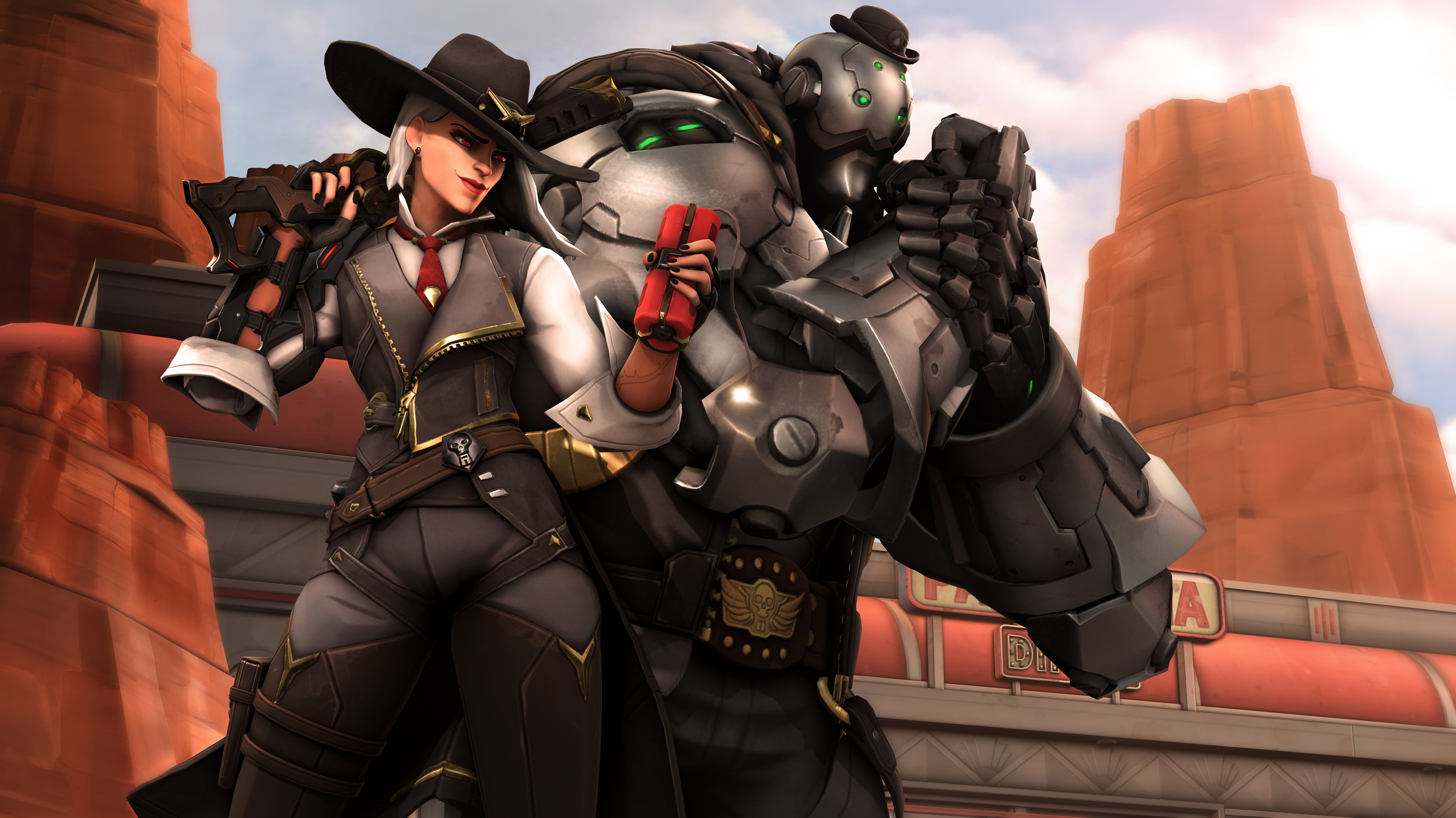 ashe and bob 1543621013 - Ashe And Bob - overwatch wallpapers, hd-wallpapers, games wallpapers, deviantart wallpapers, ashe overwatch wallpapers, 4k-wallpapers
