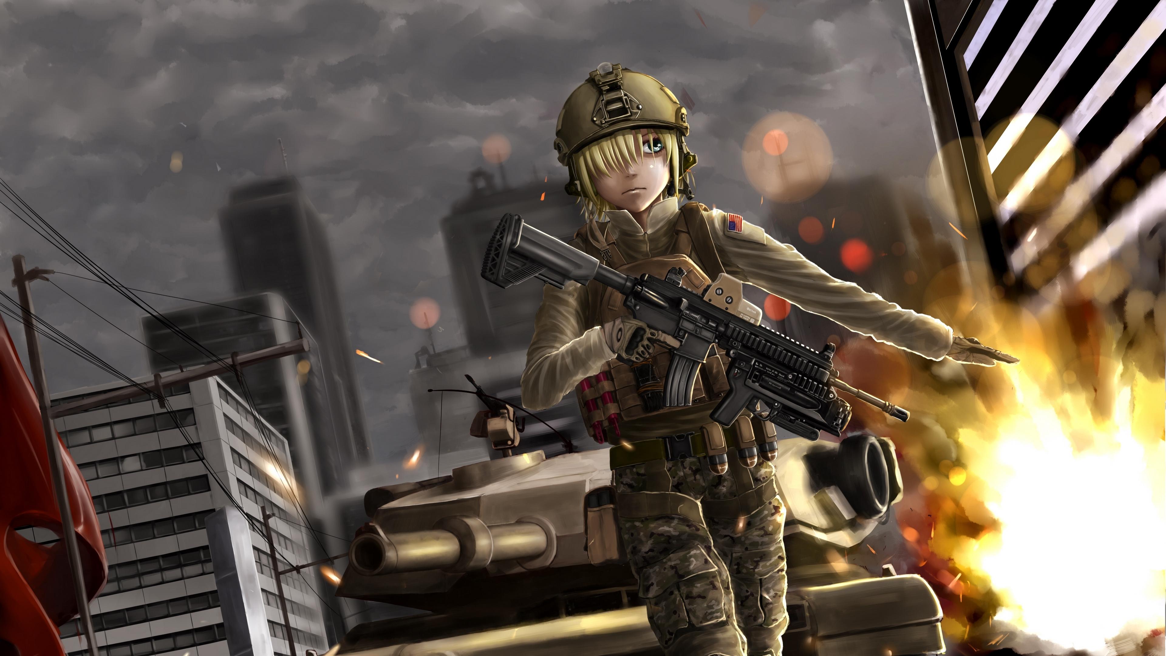 battlefield anime girl soldier 4k 1541975874 - battlefield, anime, girl, soldier 4k - Girl, battlefield, Anime