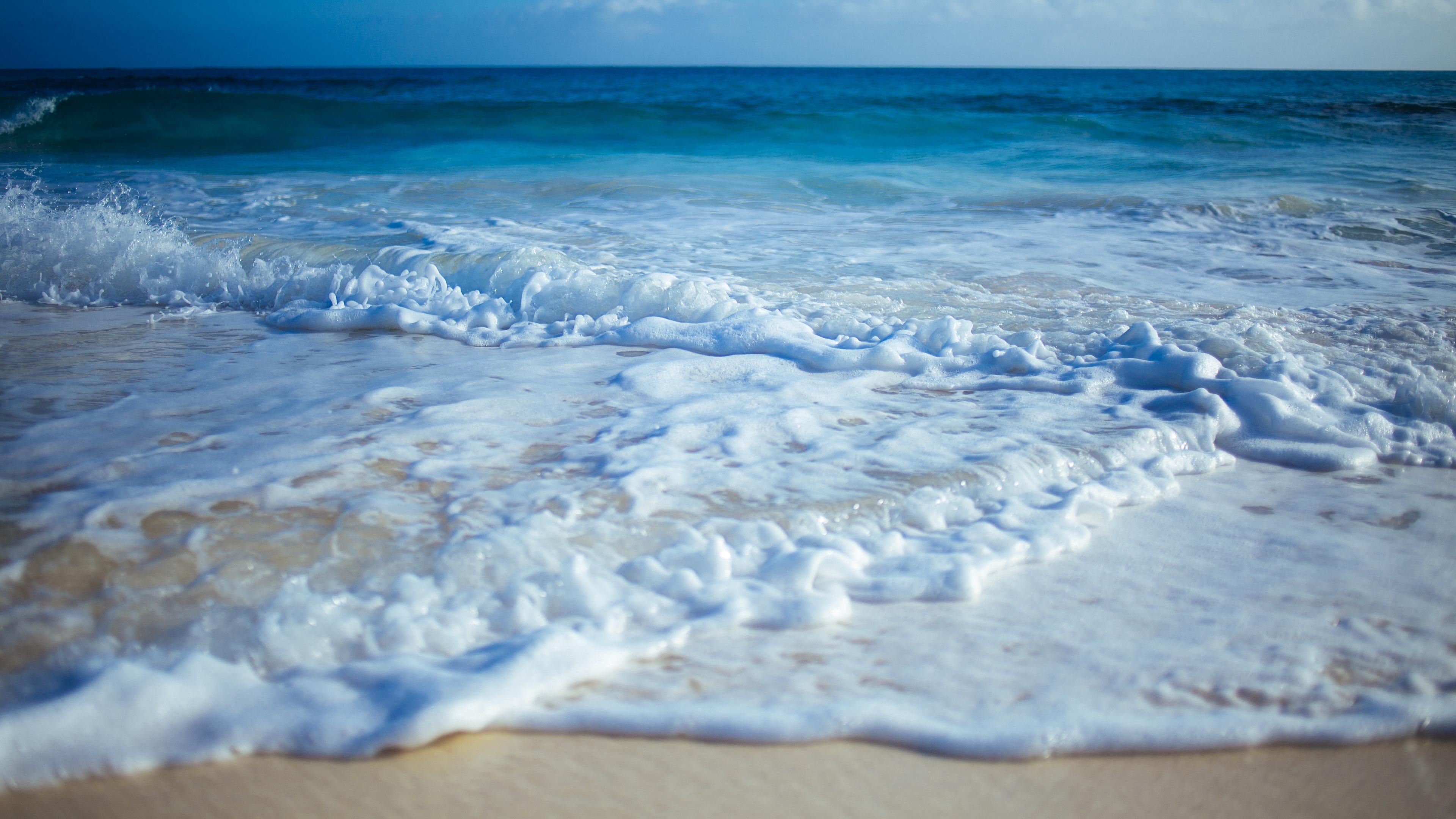 beach sand waves surf 4k 1541116362 - beach, sand, waves, surf 4k - Waves, Sand, Beach
