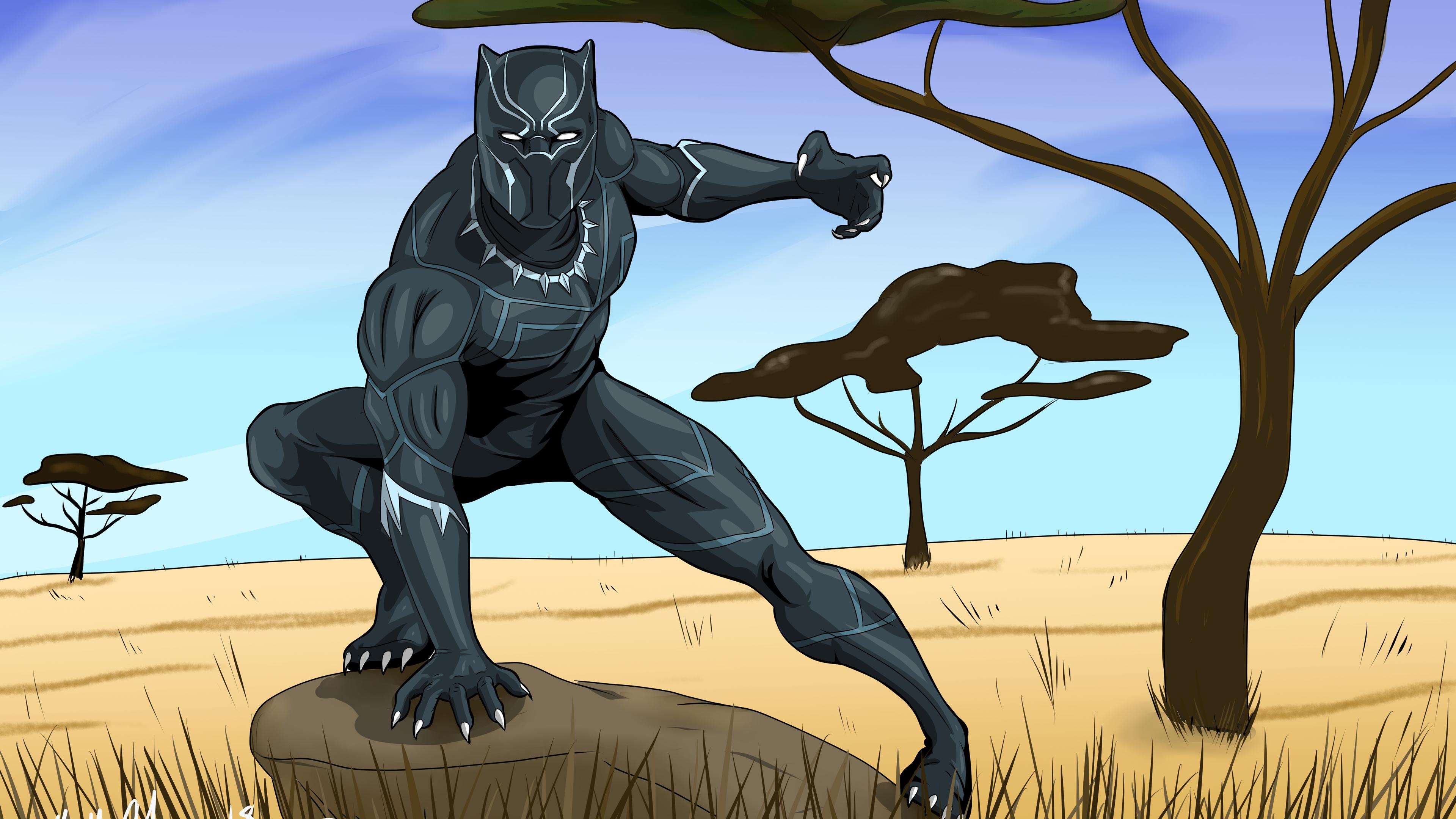 black panther 5k new artwork 1543620149 - Black Panther 5K New Artwork - superheroes wallpapers, hd-wallpapers, deviantart wallpapers, black panther wallpapers, artwork wallpapers, 4k-wallpapers