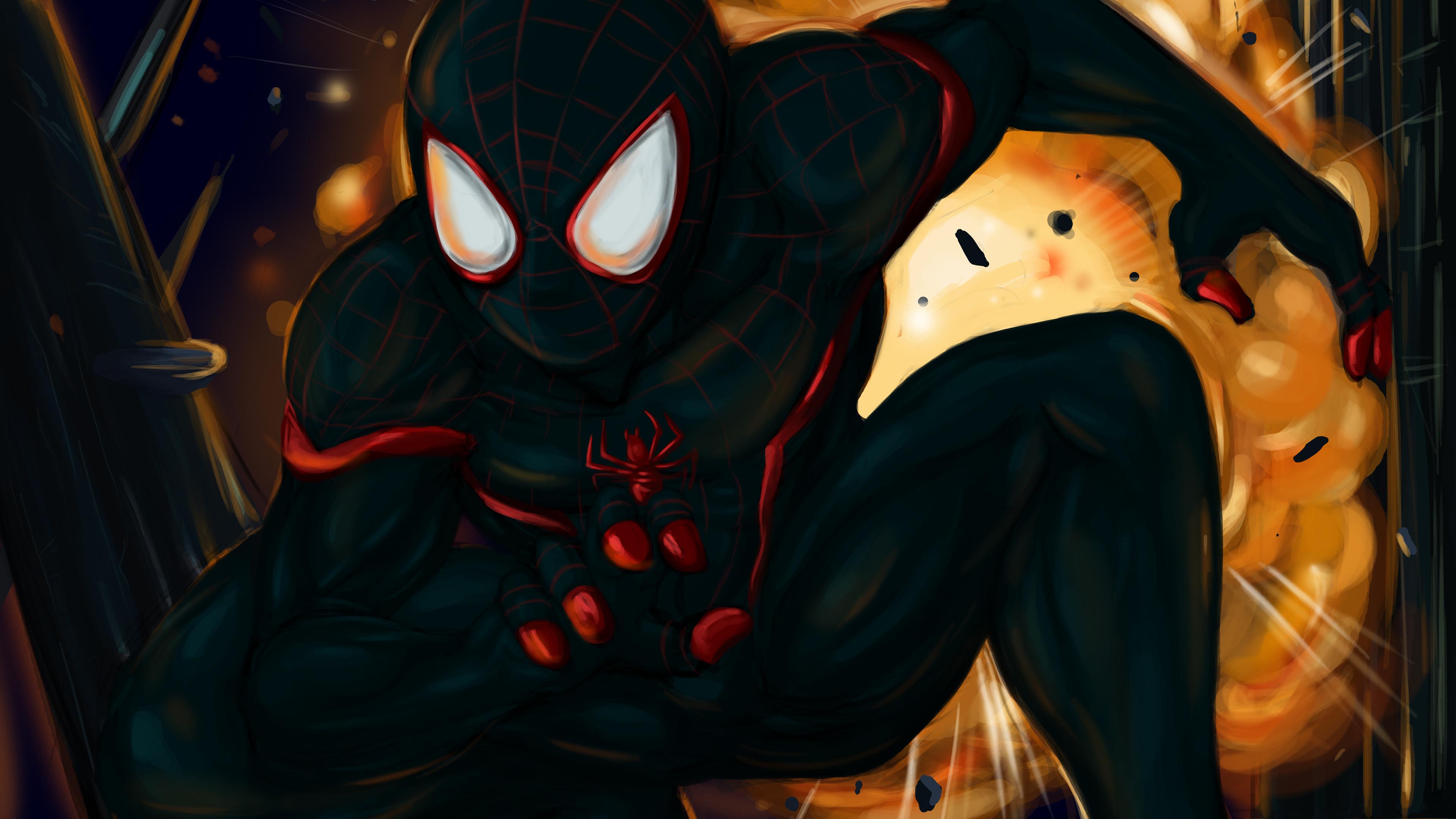 Wallpaper 4k Black Spiderman 4k Art 4k Wallpapers Art