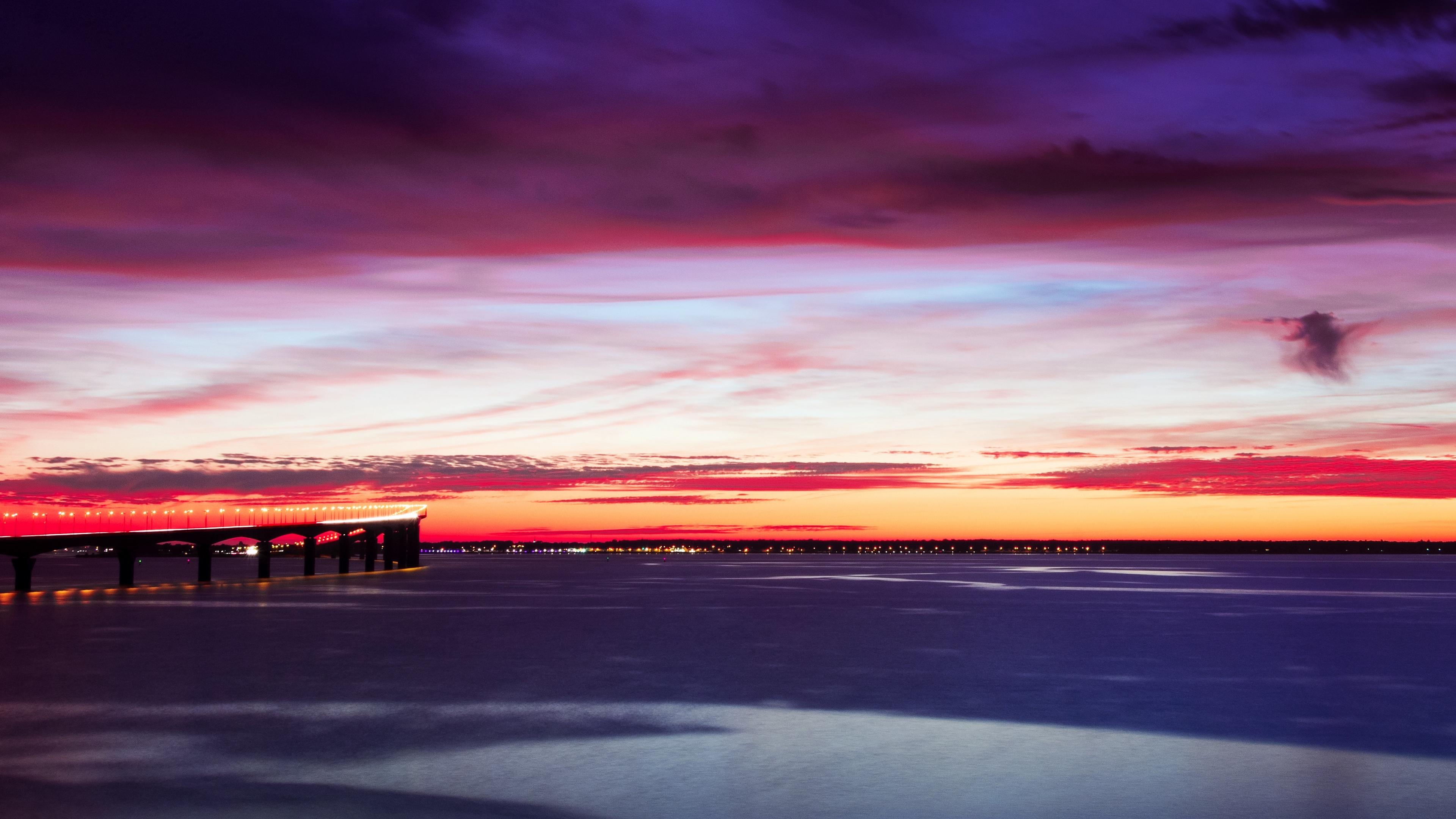 bridge sky sunset horizon 4k 1541114500 - bridge, sky, sunset, horizon 4k - sunset, Sky, bridge
