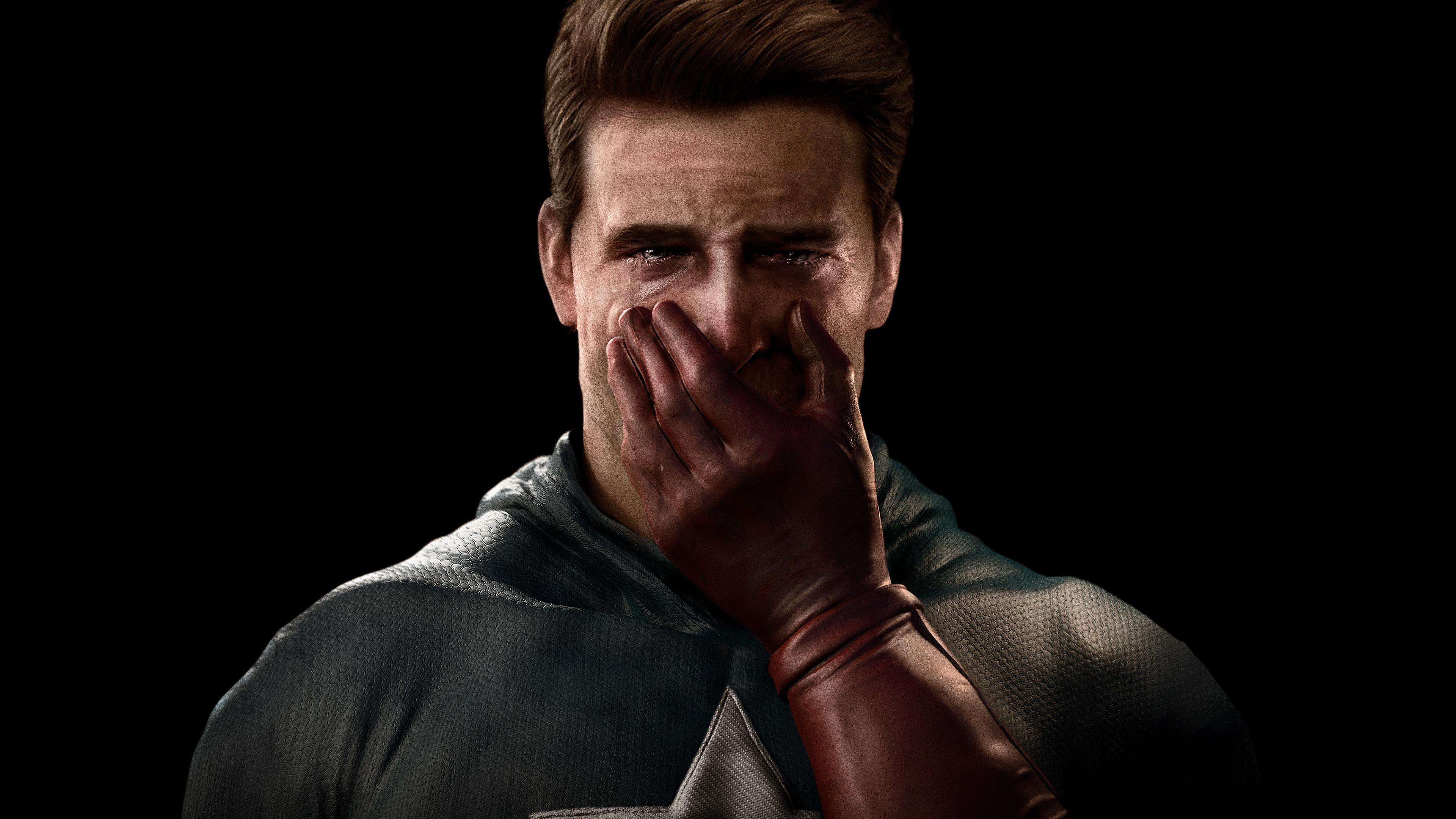 captain america crying 1541294338 - Captain America Crying - superheroes wallpapers, sad wallpapers, hd-wallpapers, crying wallpapers, captain america wallpapers, behance wallpapers, 4k-wallpapers