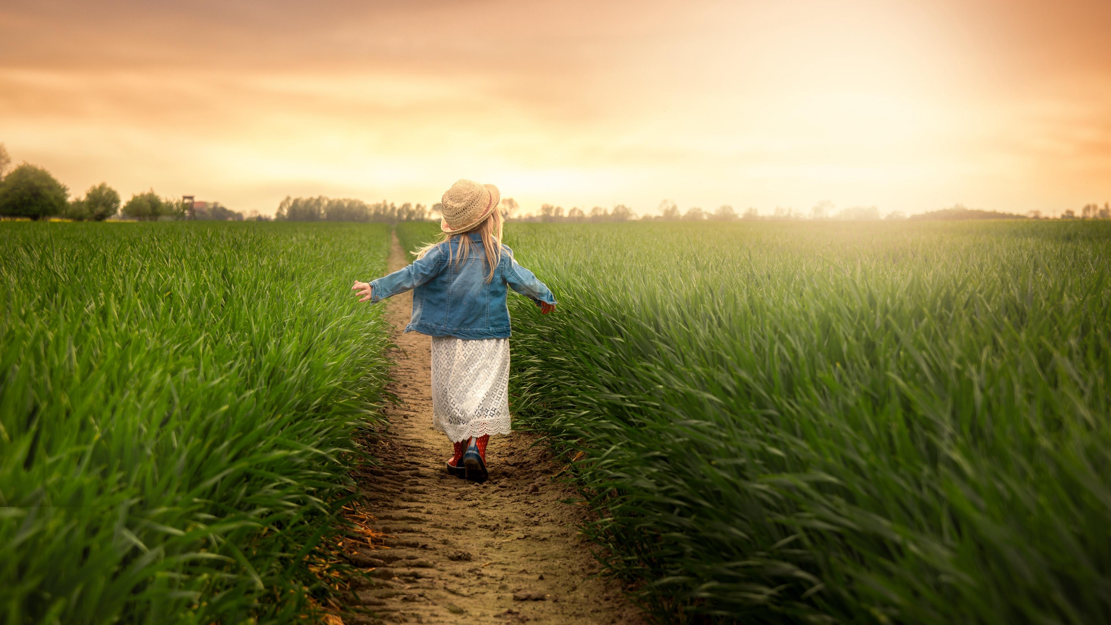 child field grass path walk 4k 1541116650 - child, field, grass, path, walk 4k - Grass, Field, child