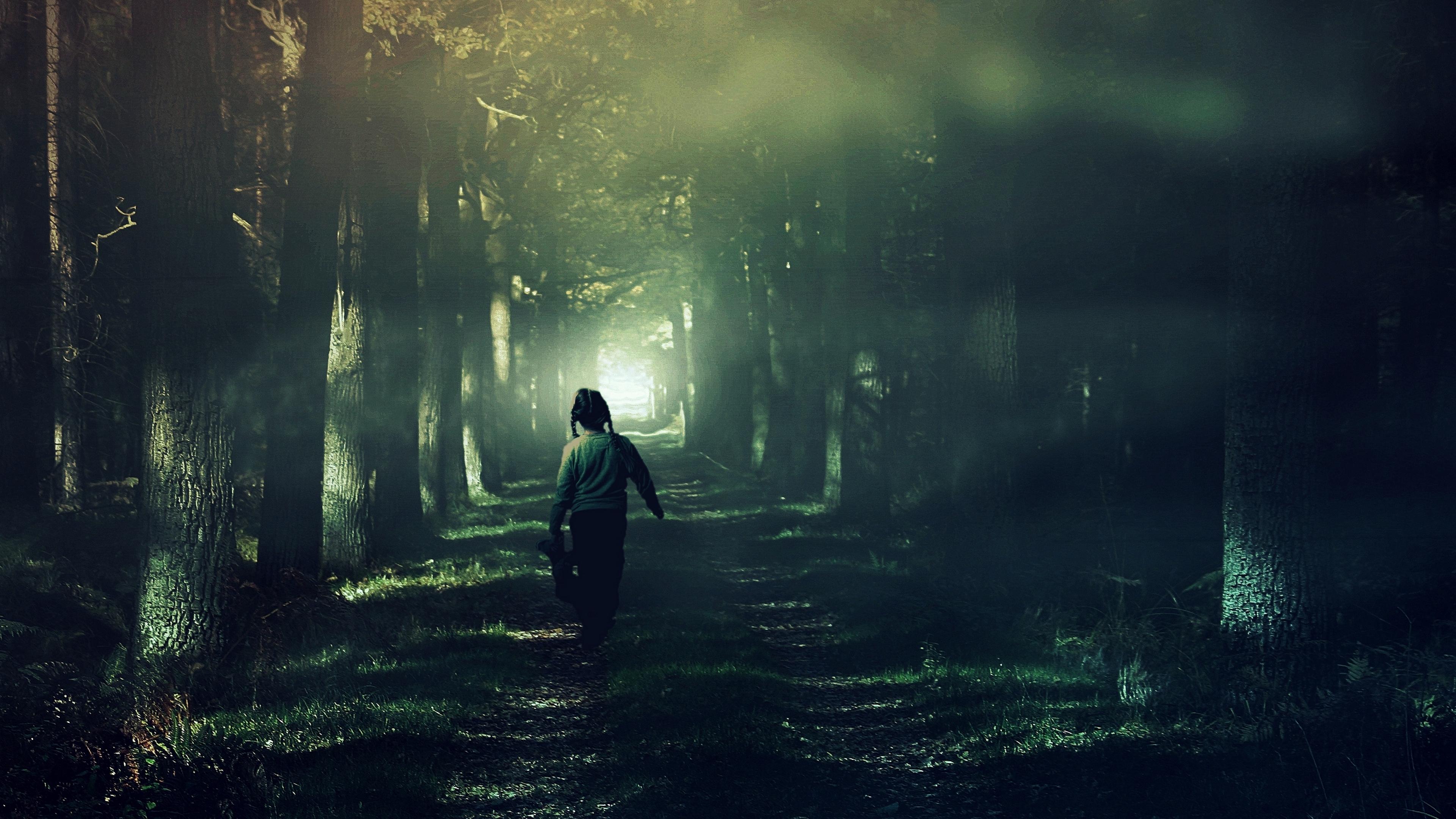 child forest fog walk 4k 1541113485 - child, forest, fog, walk 4k - Forest, fog, child