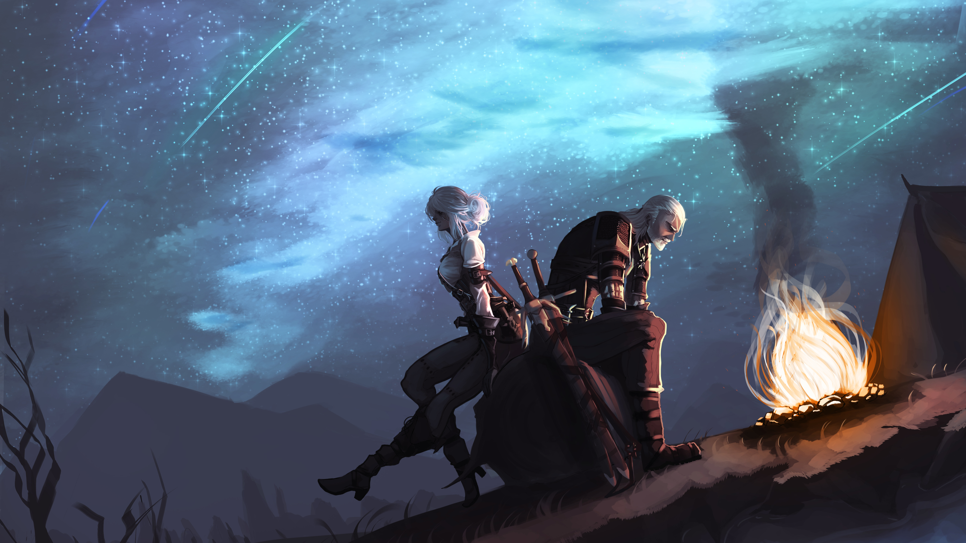 ciri and geralt 4k 1543620991 - Ciri And Geralt 4k - xbox games wallpapers, the witcher 3 wallpapers, ps4 games wallpapers, pc games wallpapers, hd-wallpapers, geralt of rivia wallpapers, games wallpapers, ciri wallpapers, artstation wallpapers, 4k-wallpapers