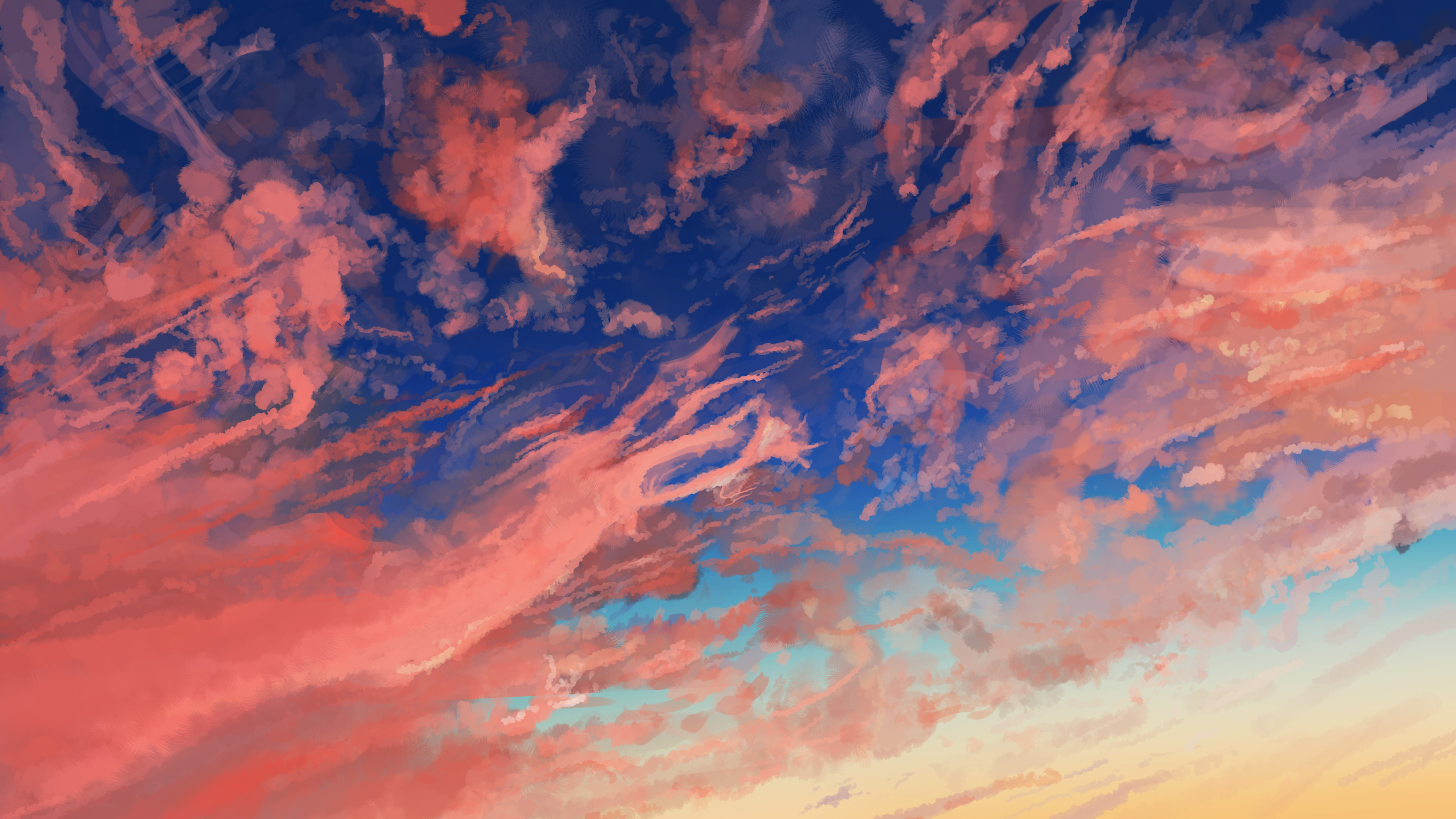 Wallpaper 4k Cloud Sky Anime 4k Wallpapers Anime Wallpapers Artist Wallpapers Artwork Wallpapers Cloud Wallpapers Digital Art Wallpapers Hd Wallpapers Sky Wallpapers
