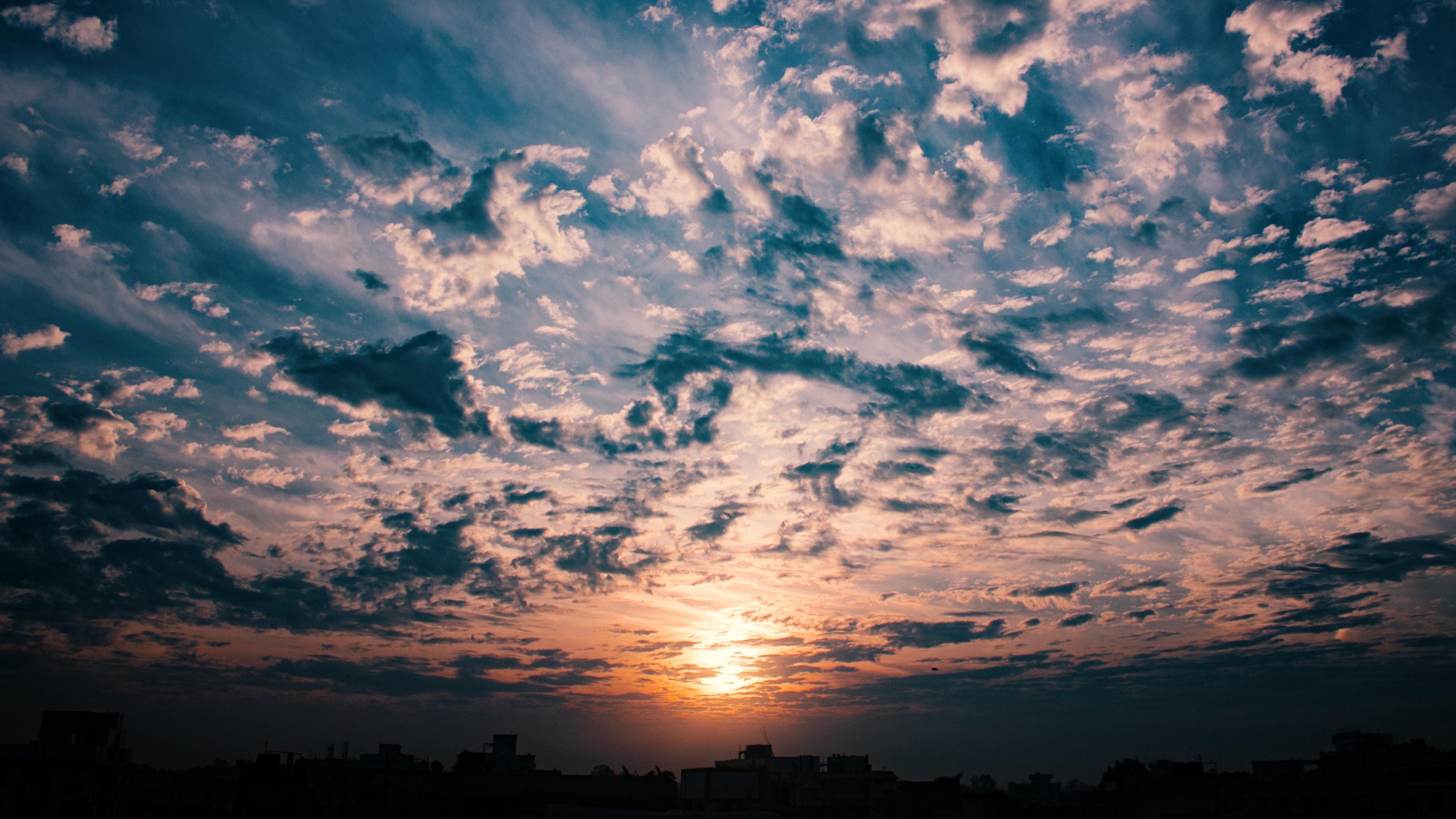 clouds sky sunset 4k 1541114427 - clouds, sky, sunset 4k - sunset, Sky, Clouds
