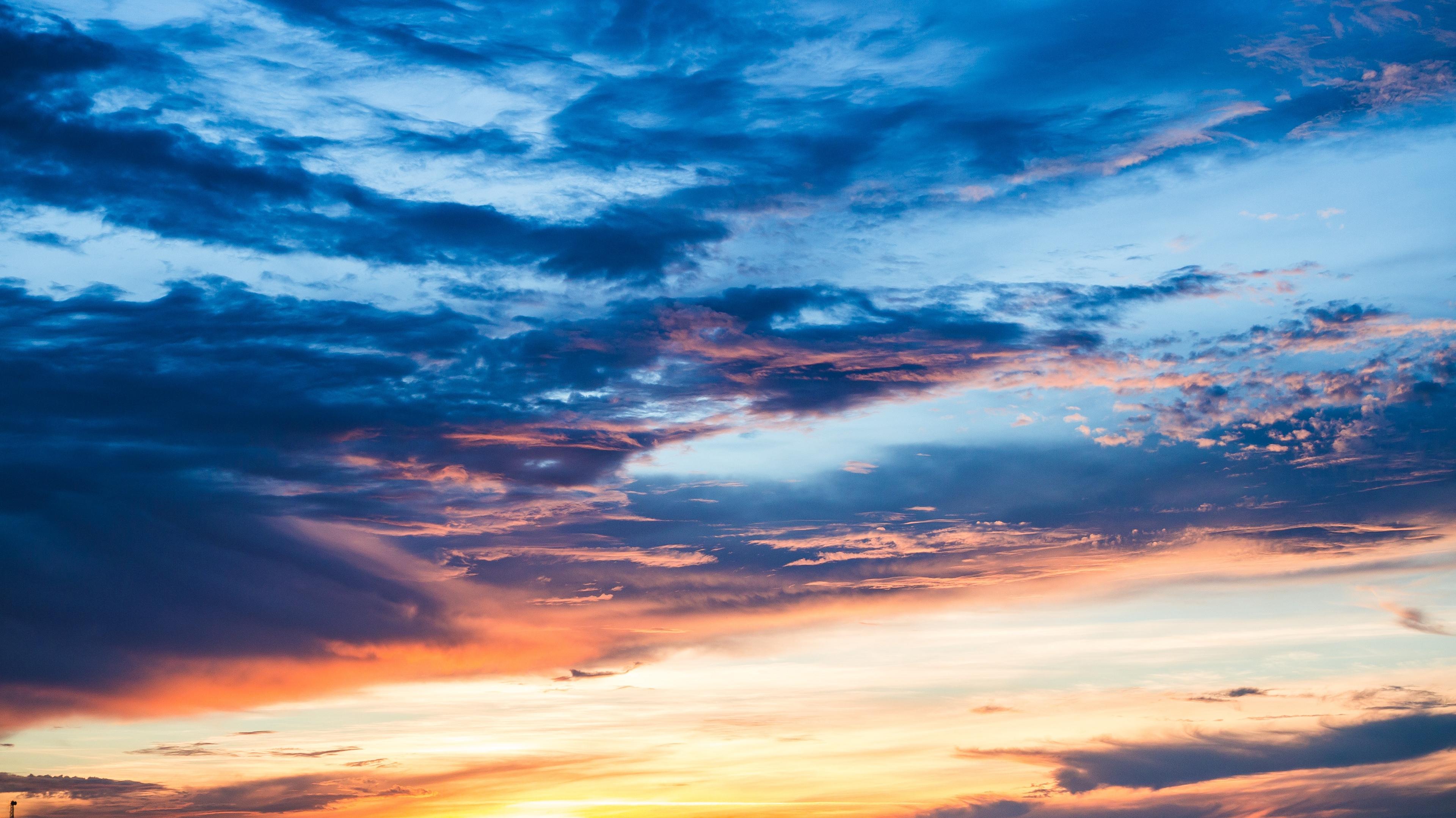 clouds sunset sky 4k 1541117838 - clouds, sunset, sky 4k - sunset, Sky, Clouds