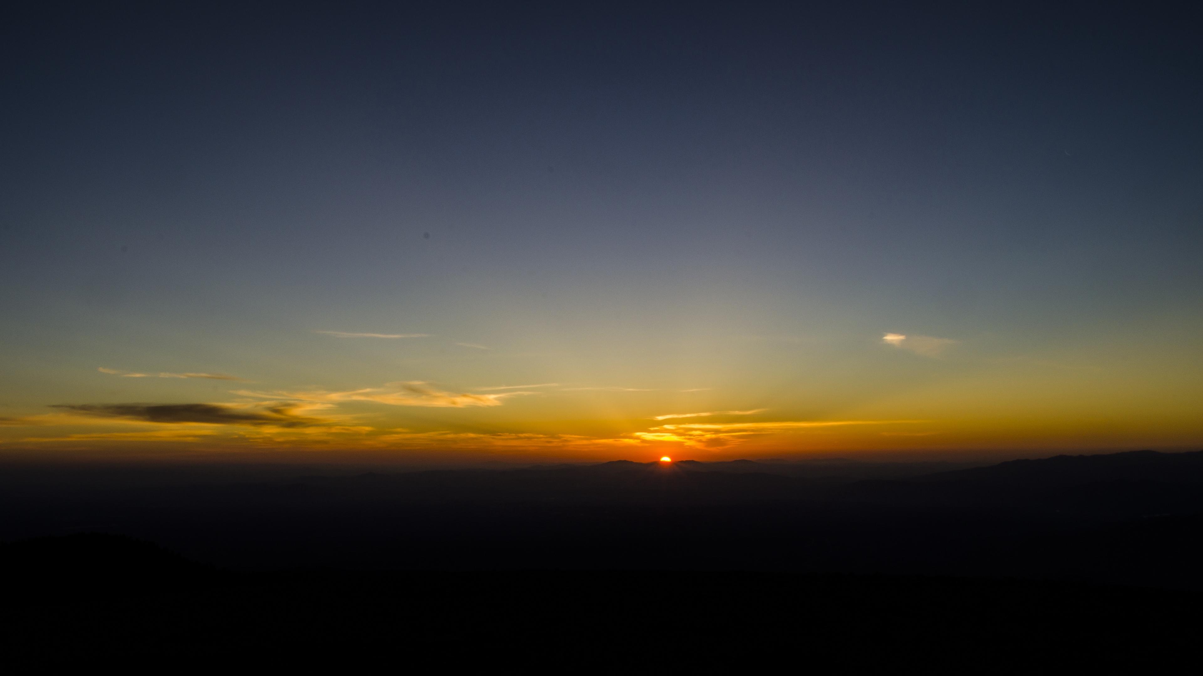 dawn horizon mountains sun sky dark sunrise 4k 1541113667 - dawn, horizon, mountains, sun, sky, dark, sunrise 4k - Mountains, Horizon, Dawn
