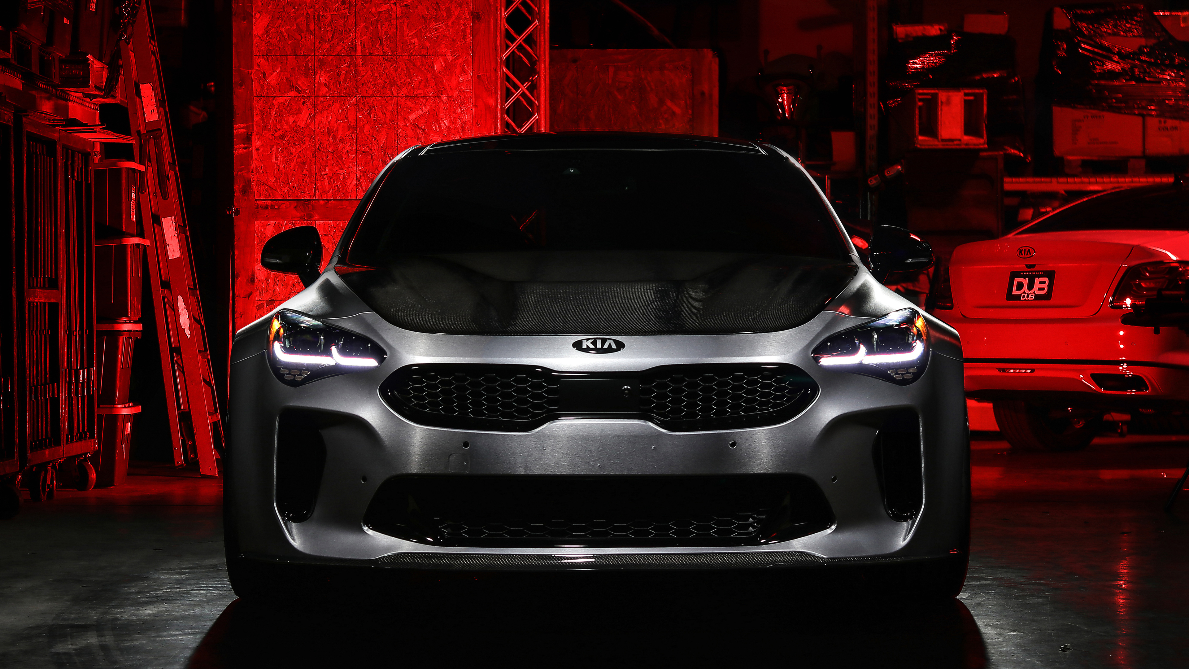 dub kia stinger gt 2018 front 1541969444 - DUB Kia Stinger GT 2018 Front - kia wallpapers, kia stinger wallpapers, hd-wallpapers, cars wallpapers, 4k-wallpapers, 2018 cars wallpapers