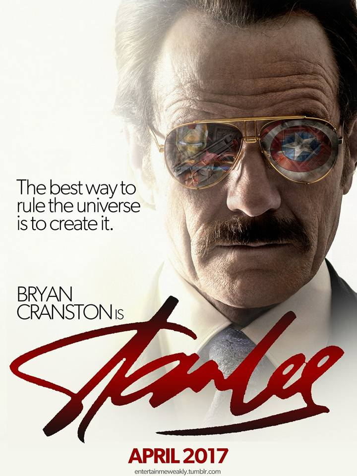 fan poster for a stan lee biopic starring bryan cranston - The Superheroes Legend Stan Lee - stan lee the best way, Stan lee poster, stan lee legend, legend stan lee