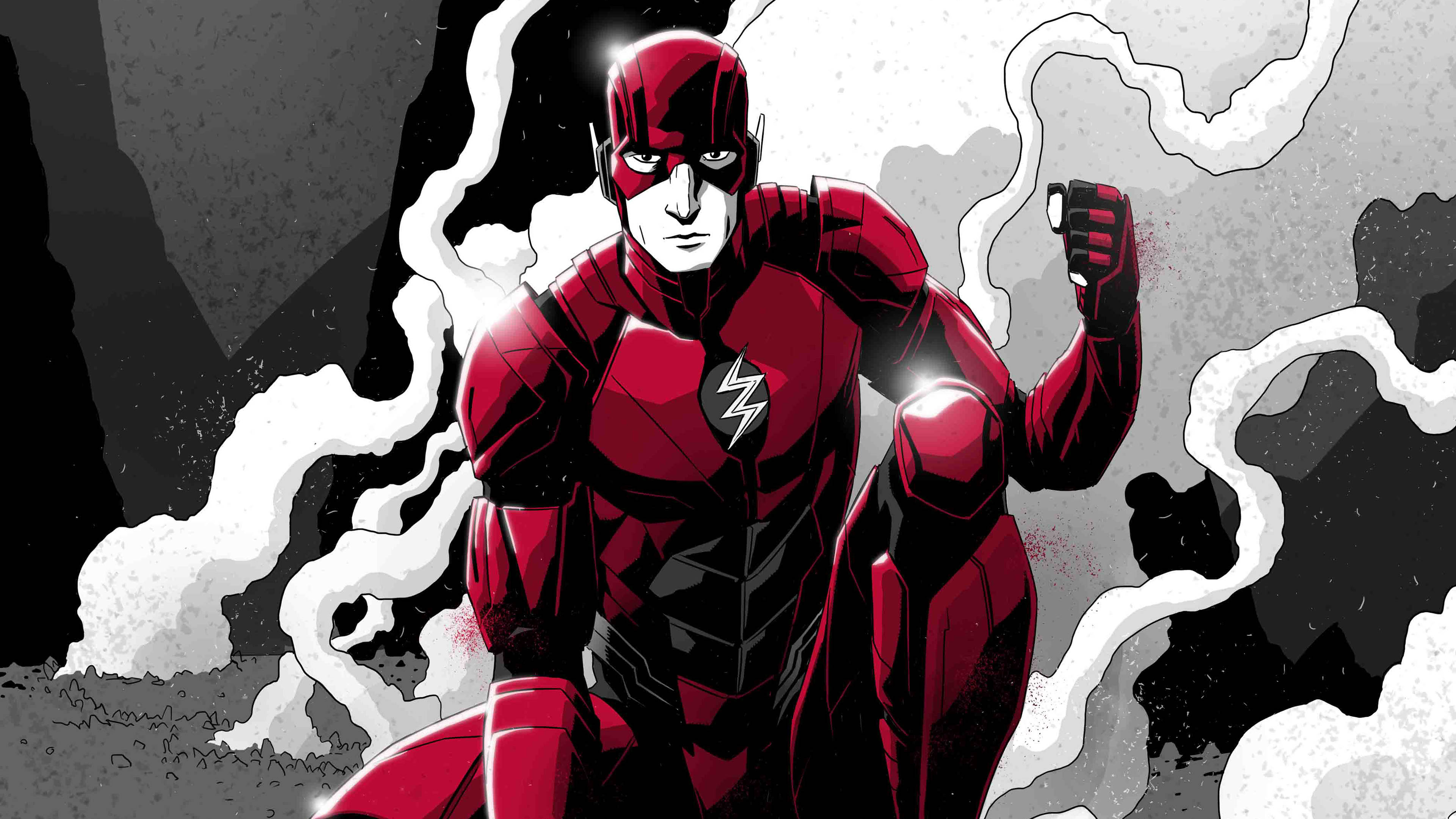 flash monochrome art 4k 1541294385 - Flash Monochrome Art 4k - superheroes wallpapers, monochrome wallpapers, hd-wallpapers, flash wallpapers, digital art wallpapers, behance wallpapers, artwork wallpapers, 4k-wallpapers