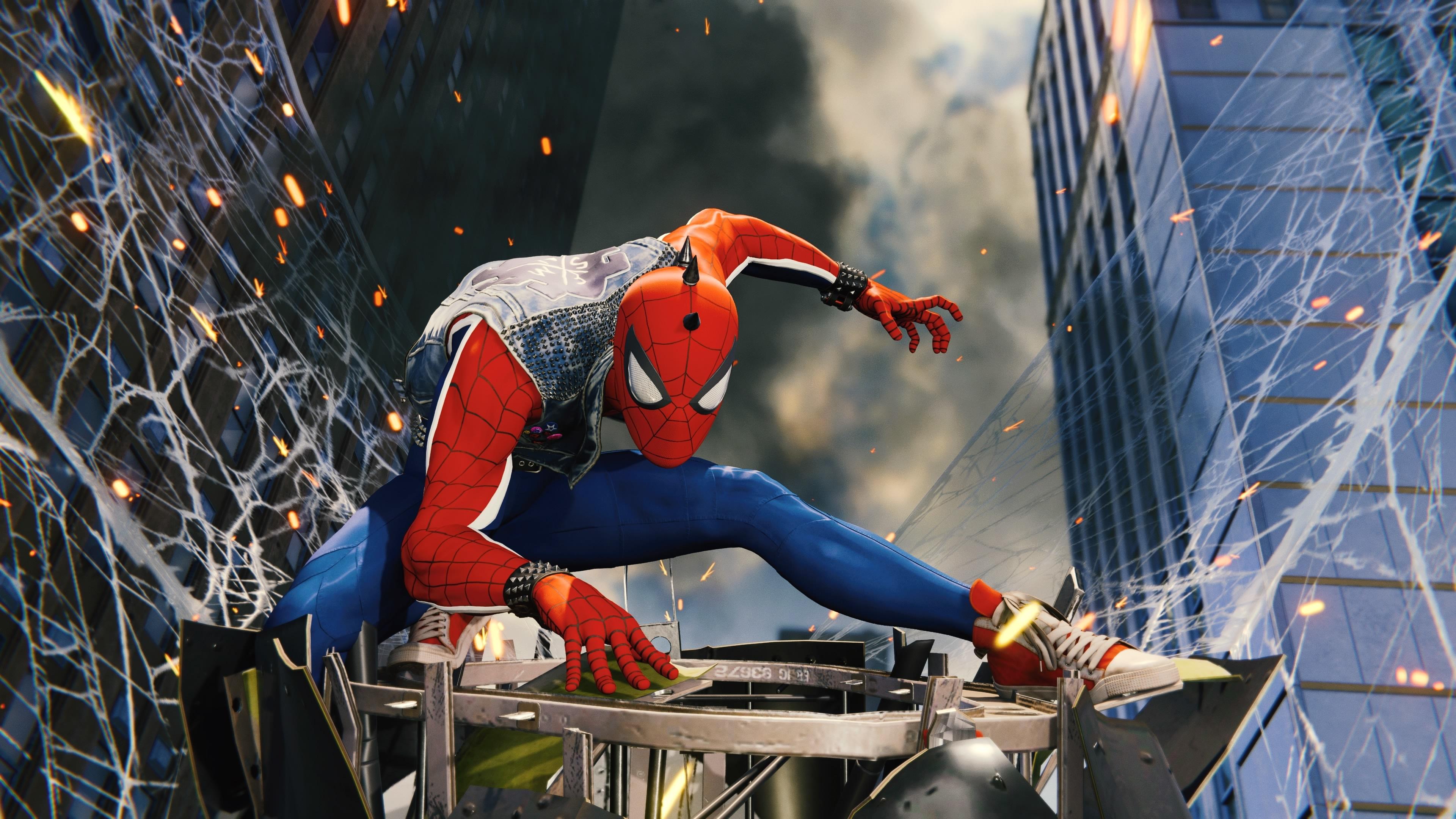 funky spiderman ps4 4k 1543619961 - Funky Spiderman Ps4 4k - superheroes wallpapers, spiderman ps4 wallpapers, ps games wallpapers, hd-wallpapers, games wallpapers, 4k-wallpapers, 2018 games wallpapers