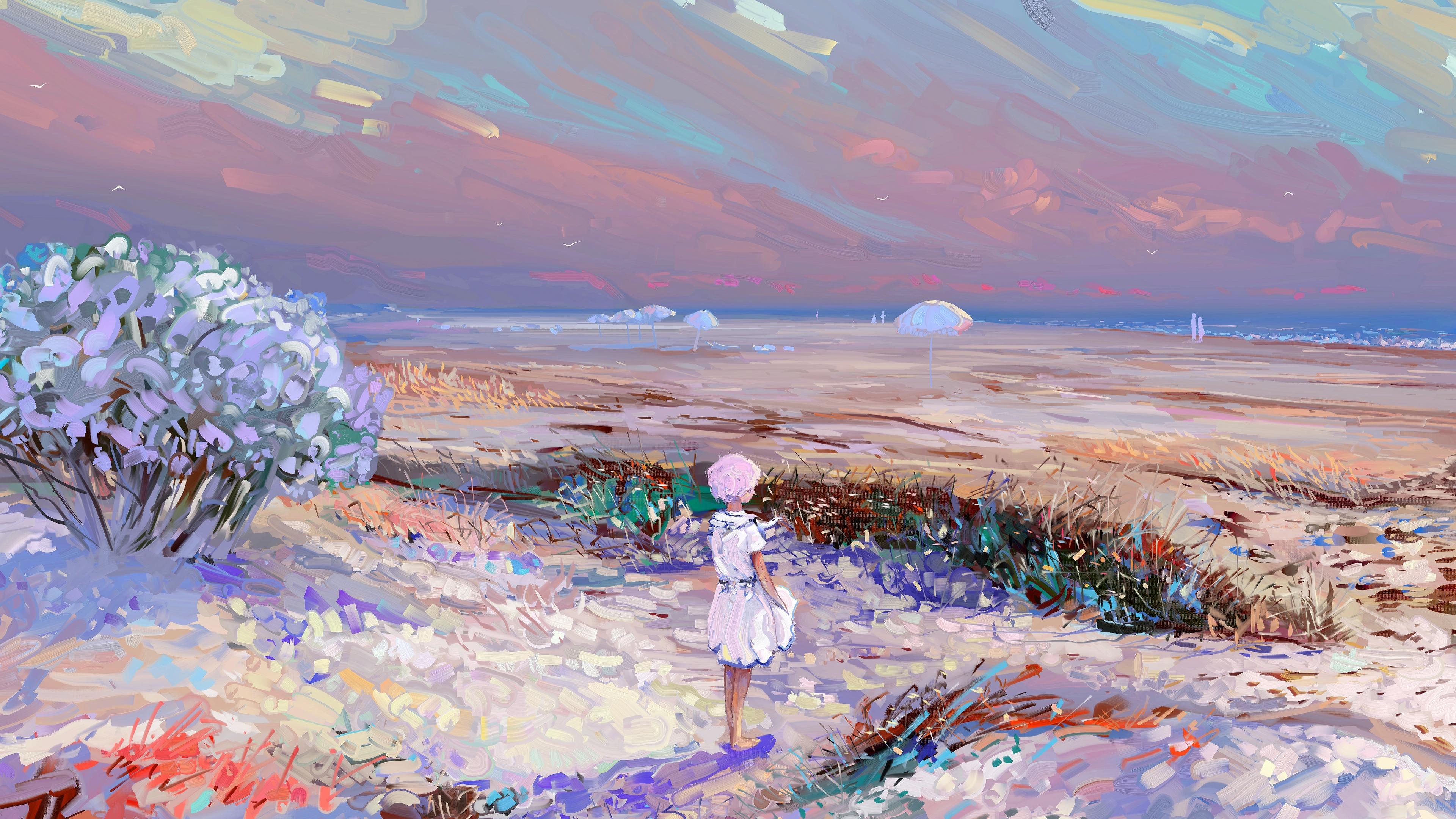 girl loneliness art field 4k 1541971491 - girl, loneliness, art, field 4k - loneliness, Girl, art