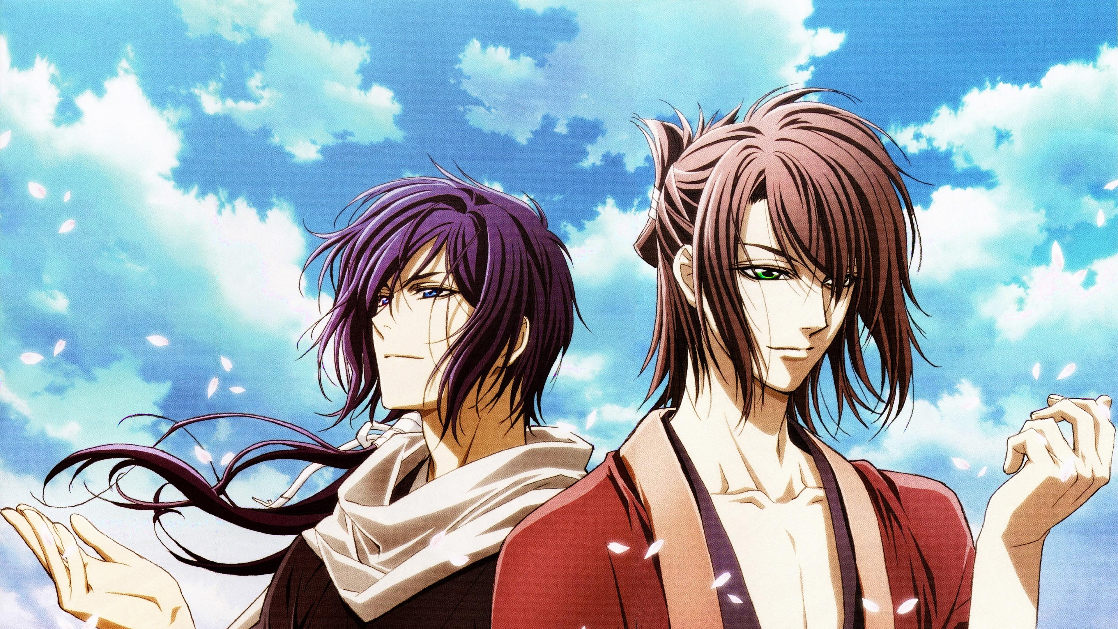 hakuouki shinsengumi kitan okita souji saitou hajime samurai 4k 1541975830 - hakuouki, shinsengumi kitan, okita souji, saitou hajime, samurai 4k - shinsengumi kitan, okita souji, hakuouki