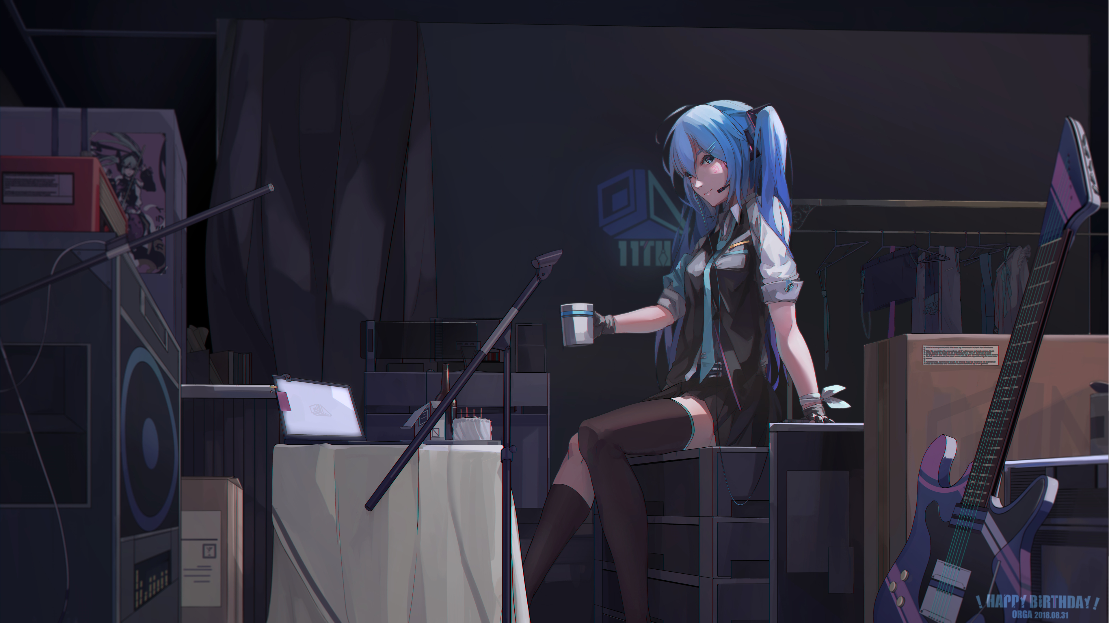 Wallpaper 4k Hatsune Miku Blue Hair 4k 4k Wallpapers Anime Girl