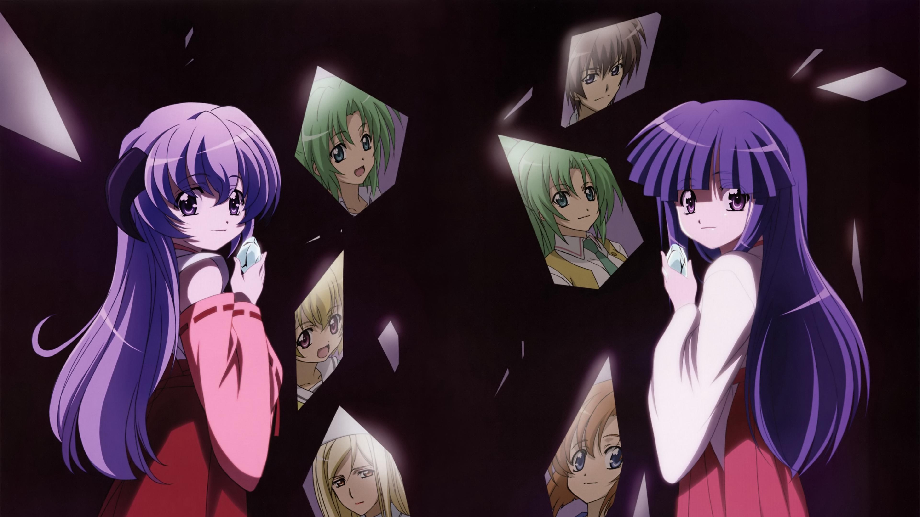 higurashi no naku koro ni girls mirror reflection 4k 1541975595 - higurashi no naku koro ni, girls, mirror, reflection 4k - Mirror, higurashi no naku koro ni, Girls