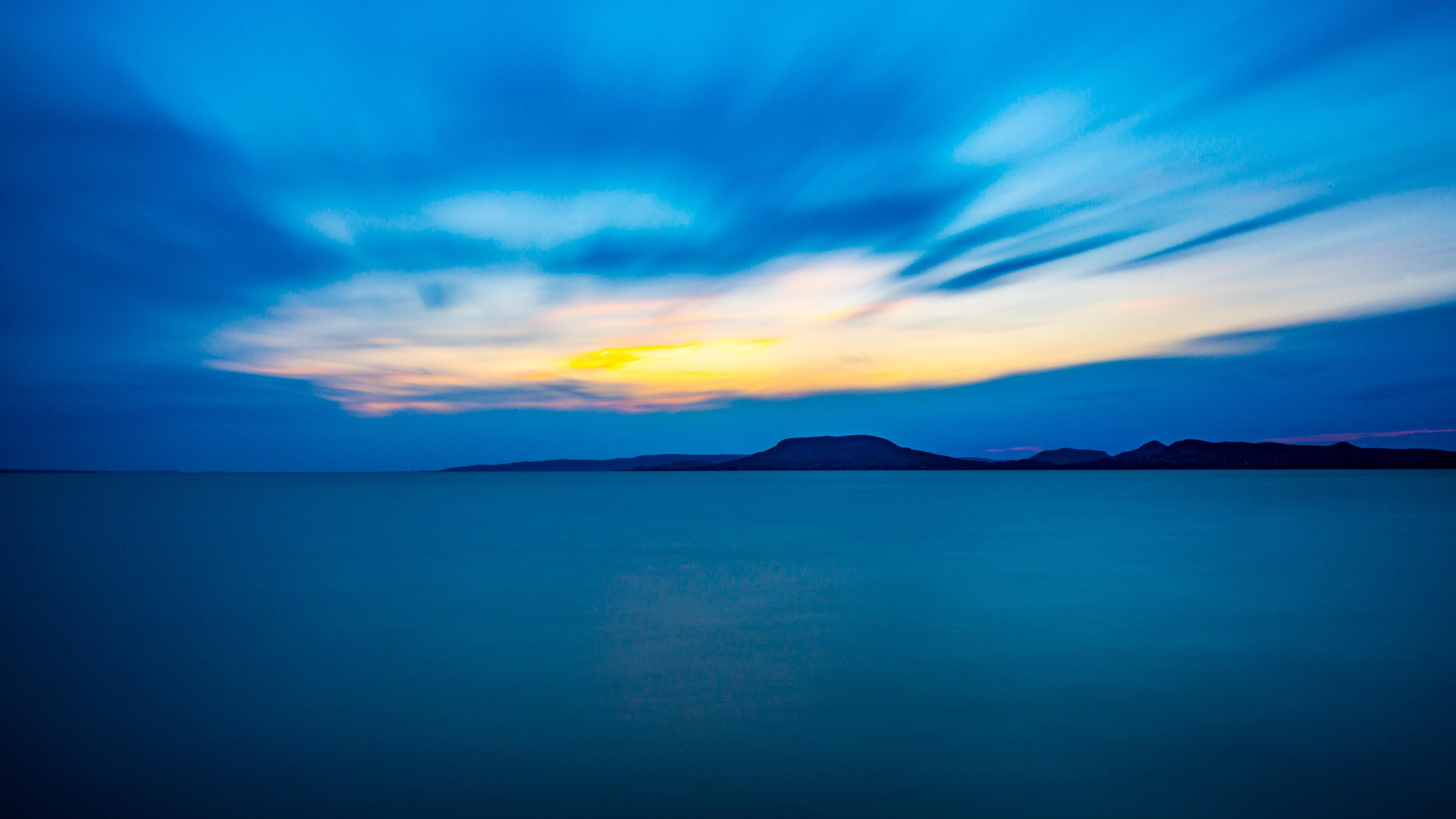 horizon mountains sea blue 4k 1541117751 - horizon, mountains, sea, blue 4k - Sea, Mountains, Horizon