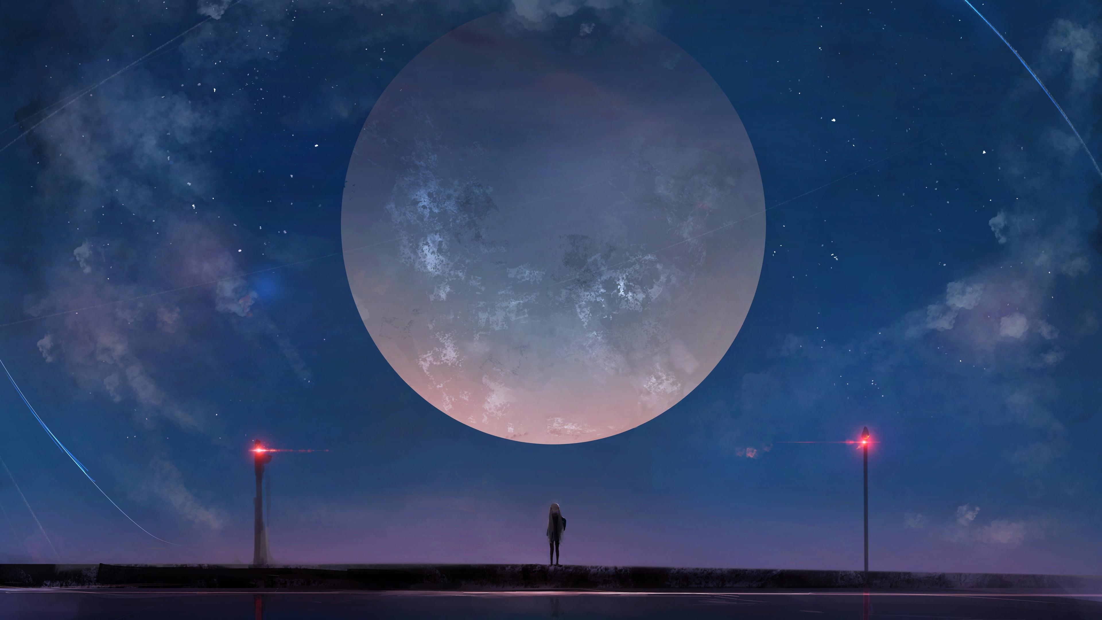 huge moon anime girl night sky stars 1541974174 - Huge Moon Anime Girl Night Sky Stars - stars wallpapers, sky wallpapers, night wallpapers, moon wallpapers, hd-wallpapers, deviantart wallpapers, anime wallpapers, anime girl wallpapers, 4k-wallpapers