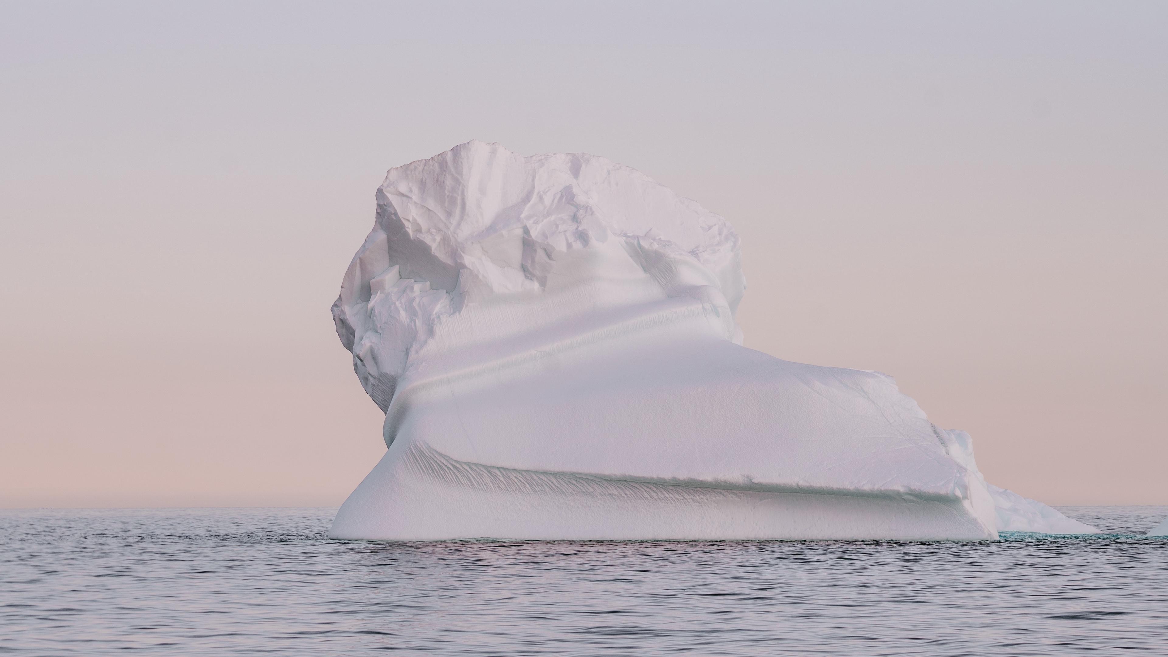 iceberg snow arctic twilight 4k 1541117266 - iceberg, snow, arctic, twilight 4k - Snow, Iceberg, Arctic