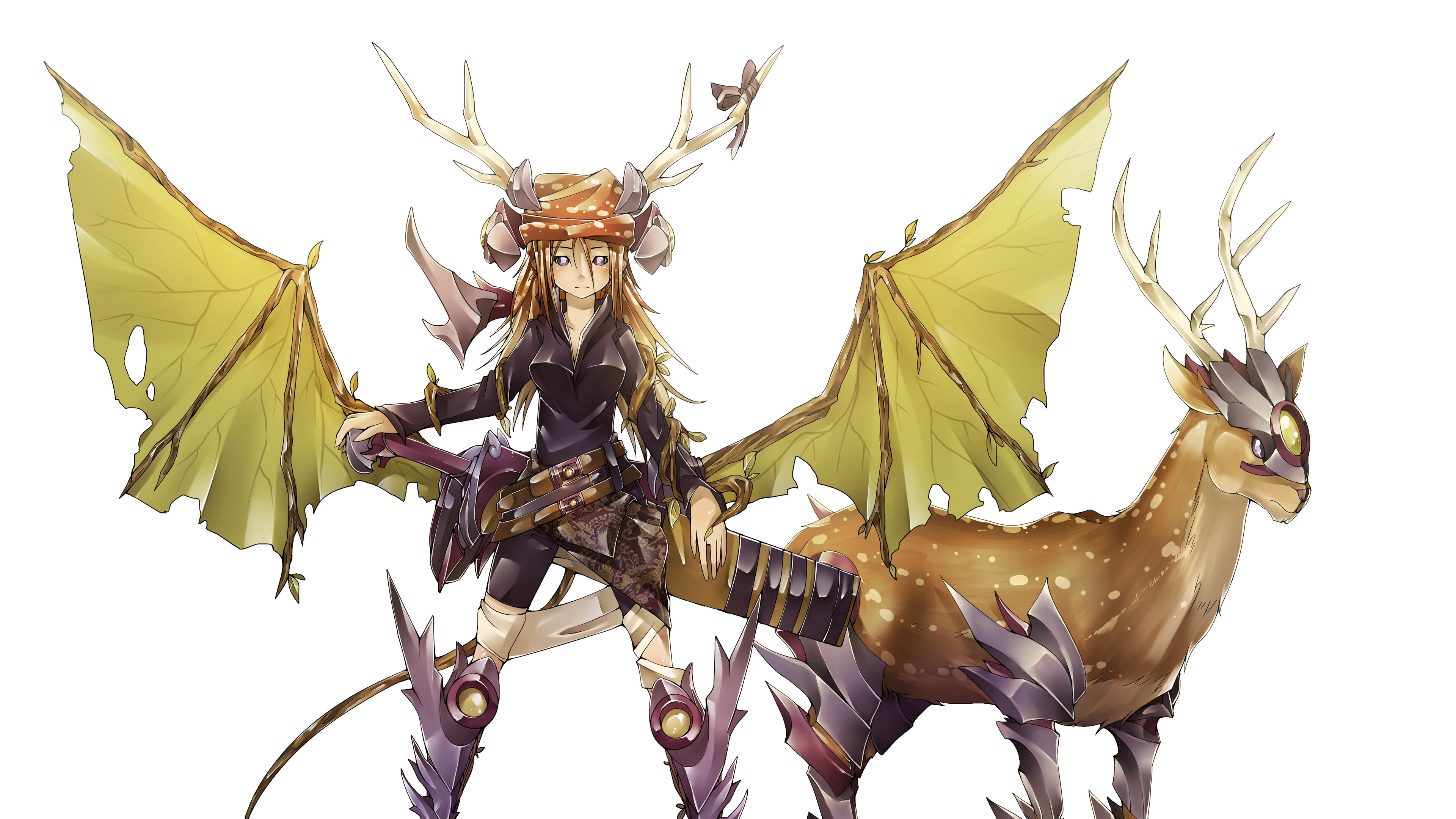 inheritage boundary of existence girl deer horns armor 4k 1541975826 - inheritage, boundary of existence, girl, deer, horns, armor 4k - inheritage, Girl, boundary of existence