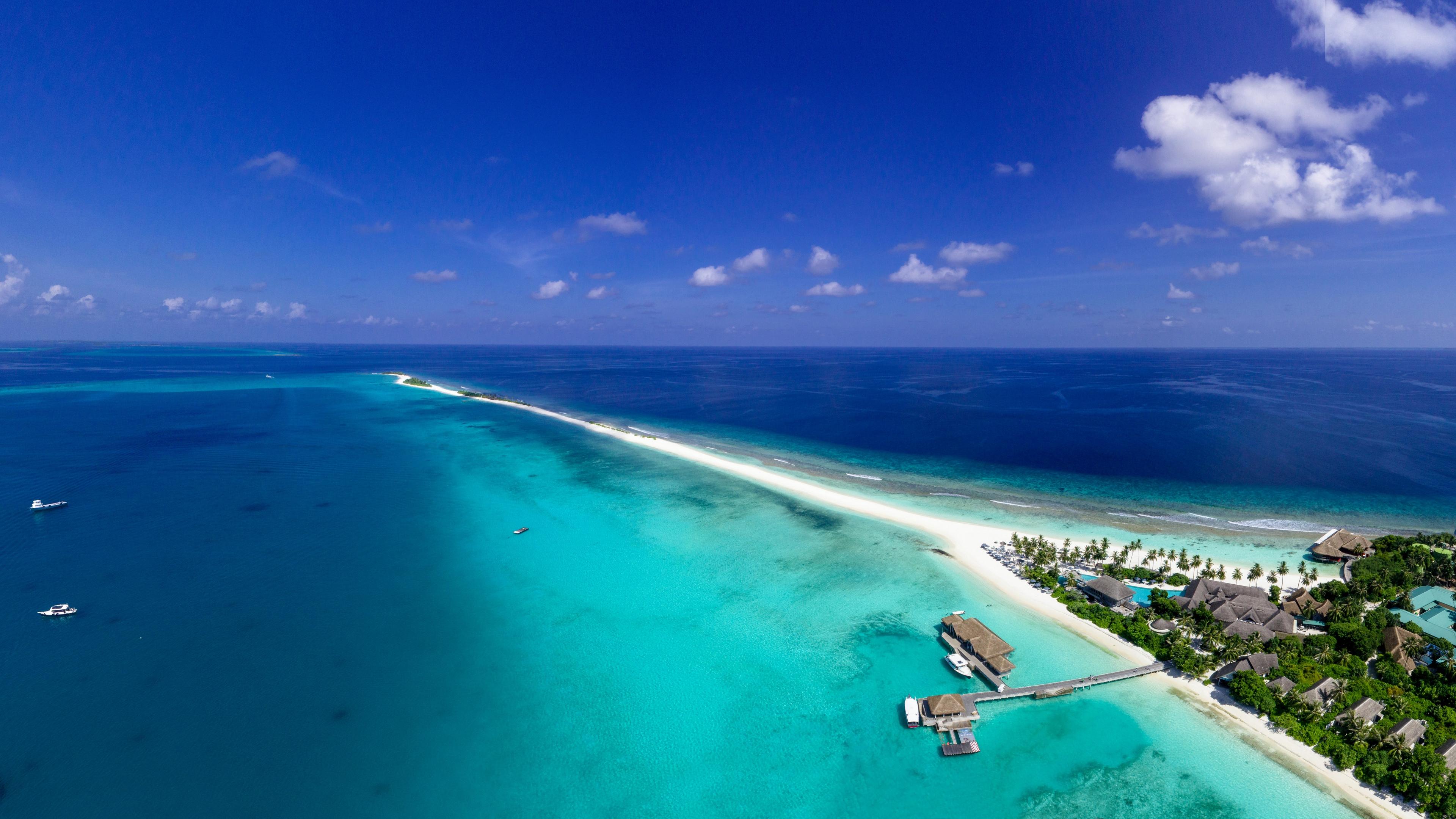 island ocean aerial view tropics vacation paradise 4k 1541117514 - island, ocean, aerial view, tropics, vacation, paradise 4k - Ocean, Island, aerial view
