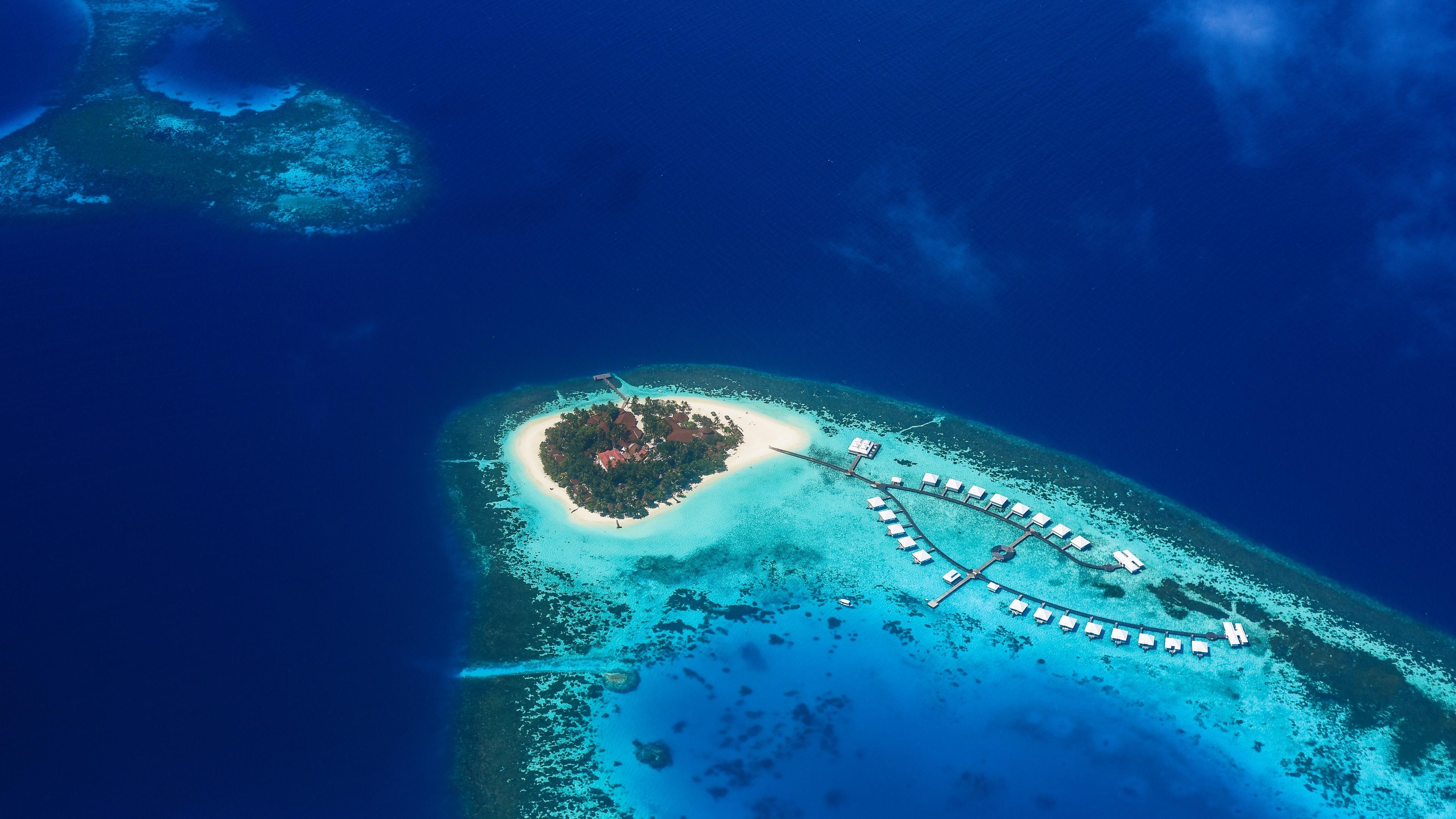 island ocean top view tropics paradise bay 4k 1541117302 - island, ocean, top view, tropics, paradise, bay 4k - top view, Ocean, Island