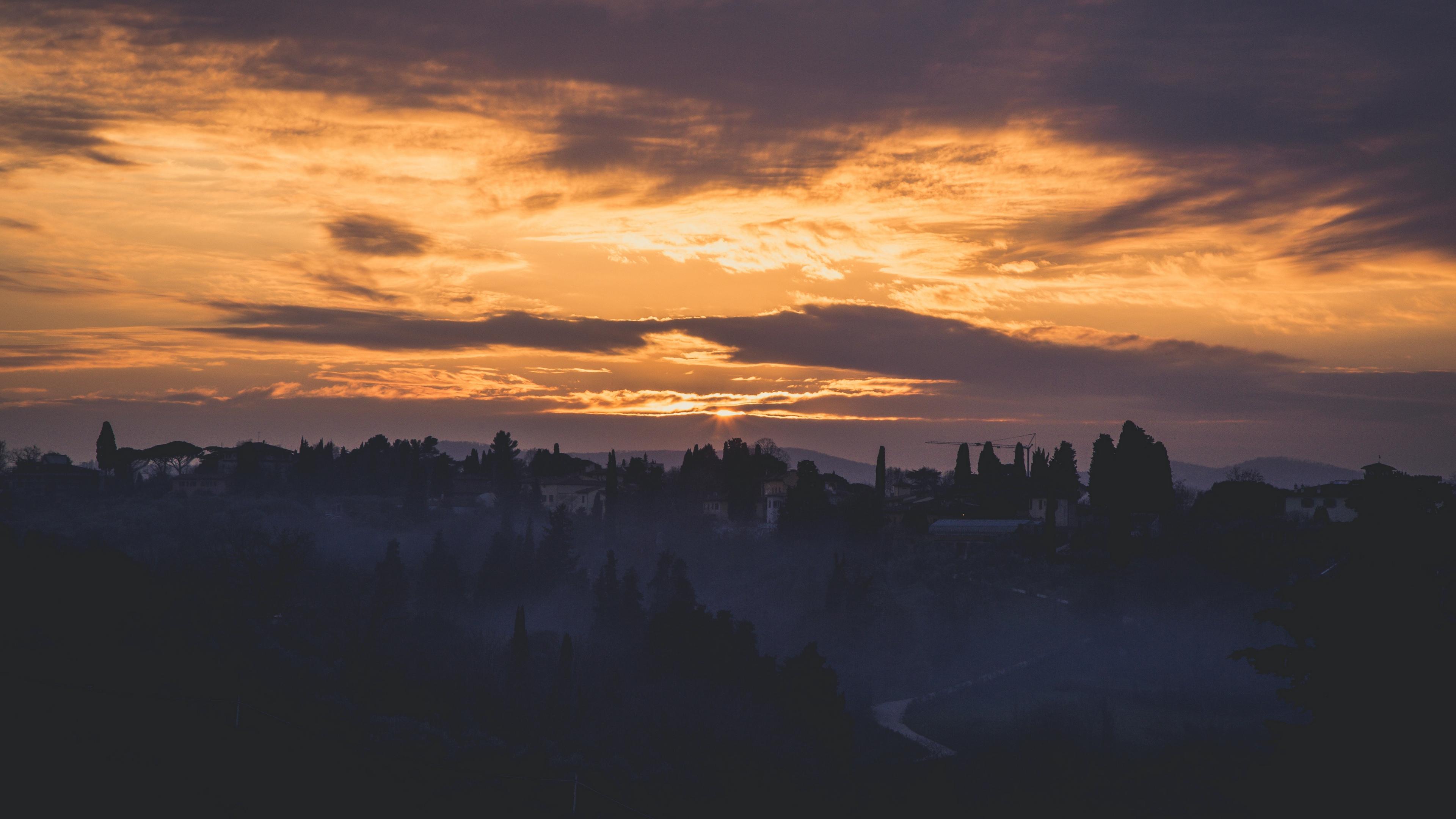 italy florence fog dawn sky 4k 1541117849 - italy, florence, fog, dawn, sky 4k - Italy, fog, florence