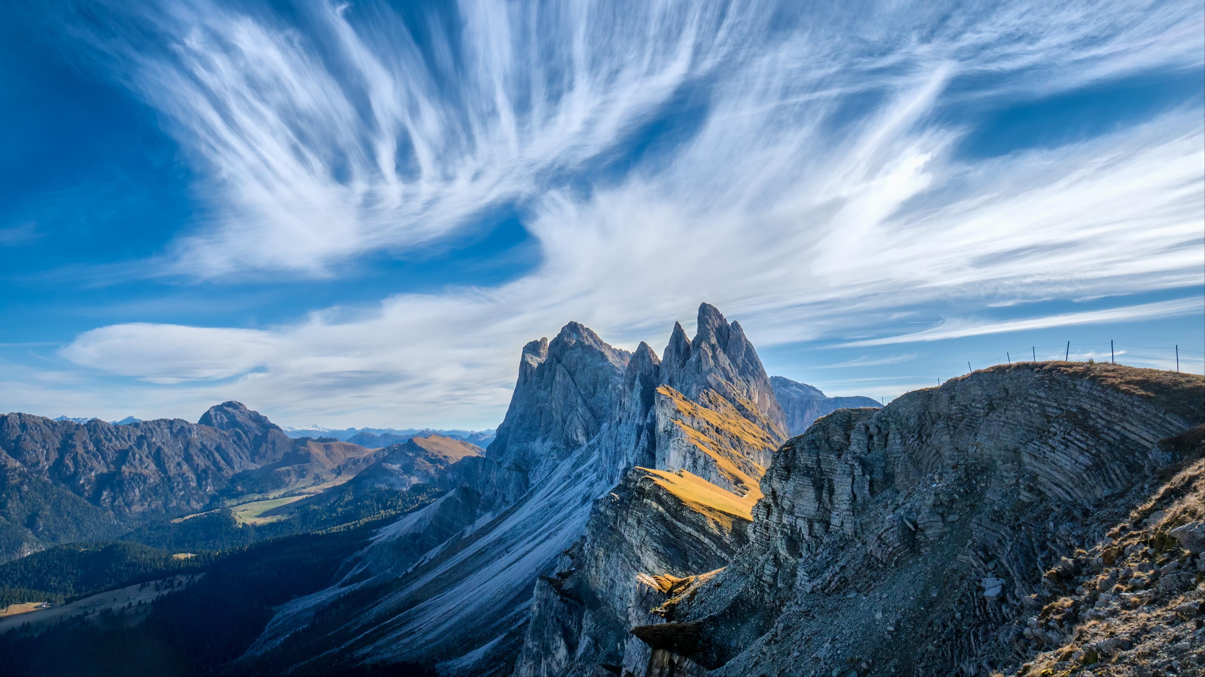 italy mountains cliffs clouds dolomites 4k 1541117452 - italy, mountains, cliffs, clouds, dolomites 4k - Mountains, Italy, cliffs