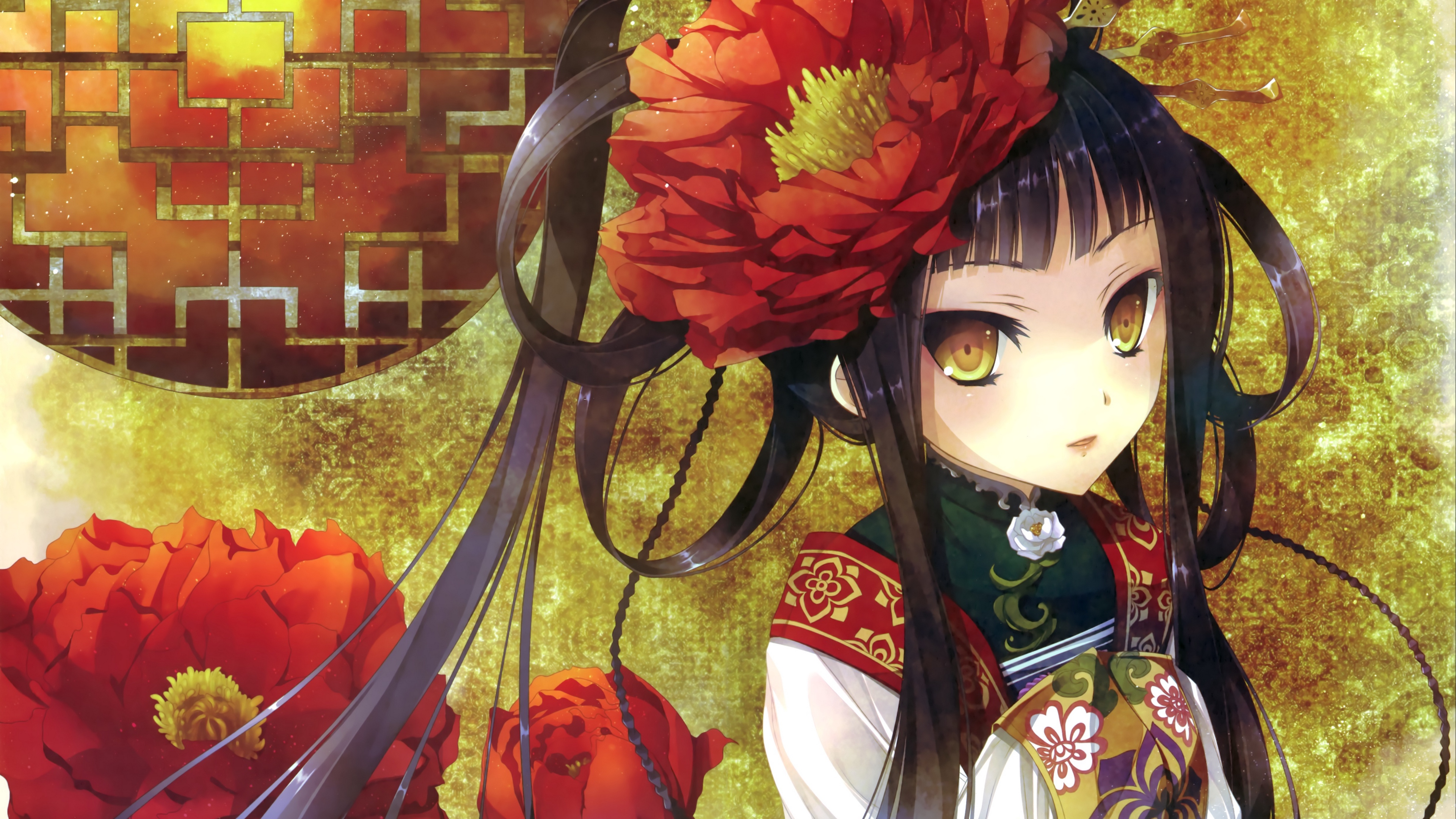 katagiri hinata girl kimono art 4k 1541976040 - katagiri hinata, girl, kimono, art 4k - Kimono, katagiri hinata, Girl
